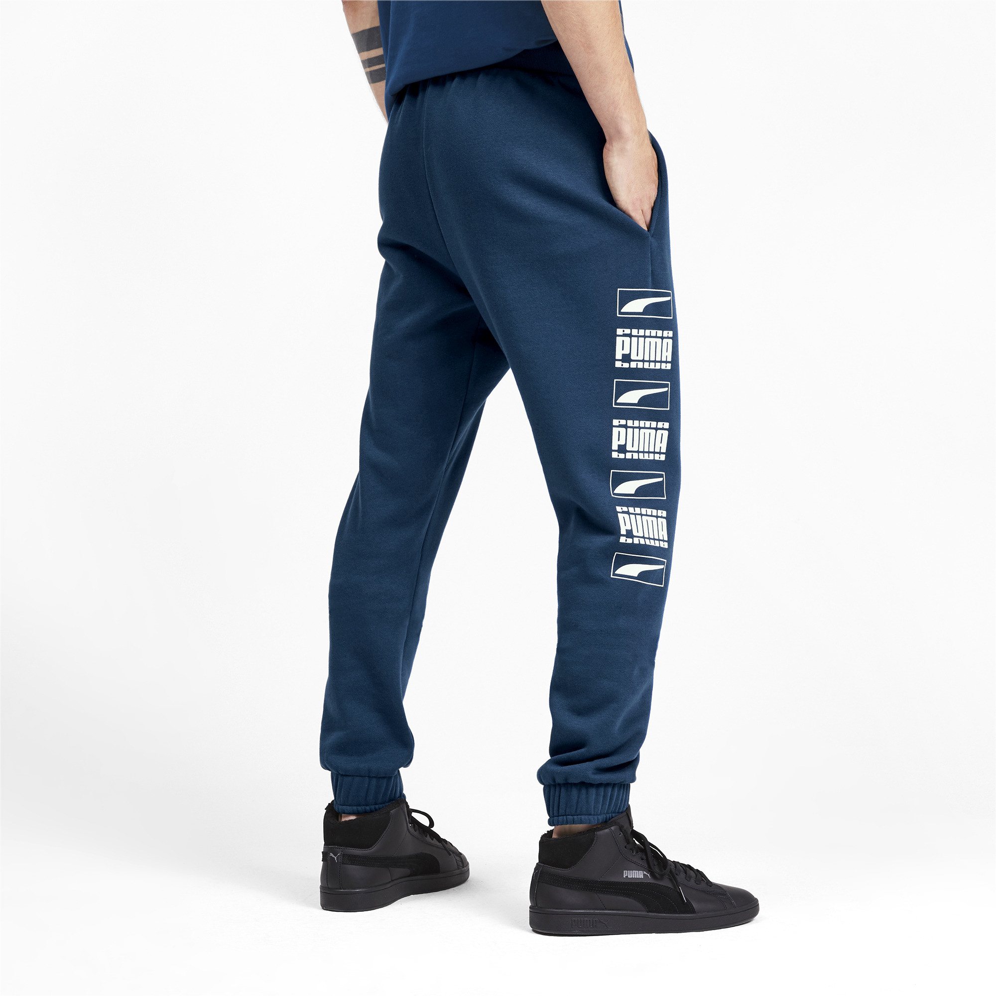 PUMA-Rebel-Bold-Men-039-s-Sweatpants-Men-Knitted-Pants-Basics thumbnail 5