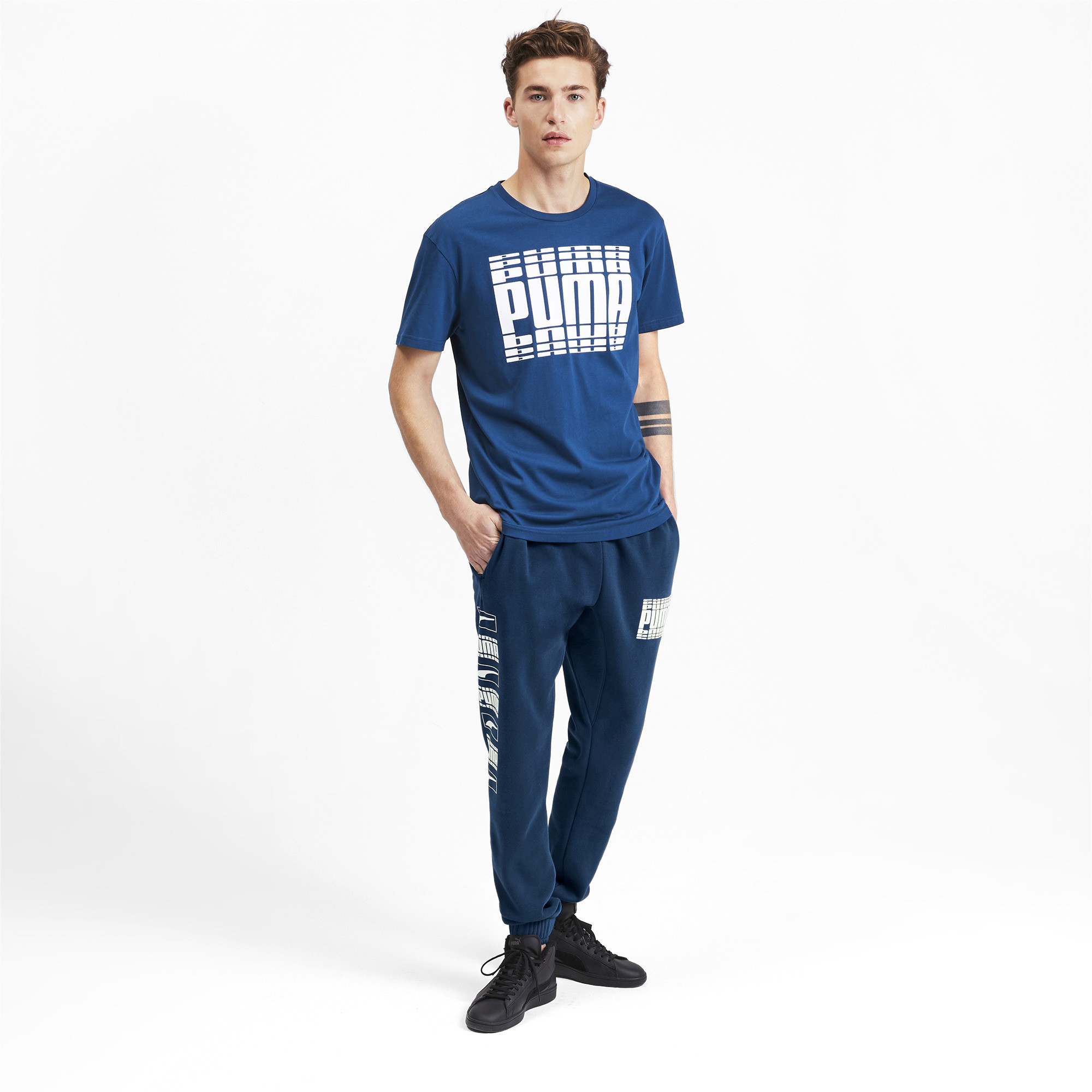 PUMA-Rebel-Bold-Men-039-s-Sweatpants-Men-Knitted-Pants-Basics thumbnail 6