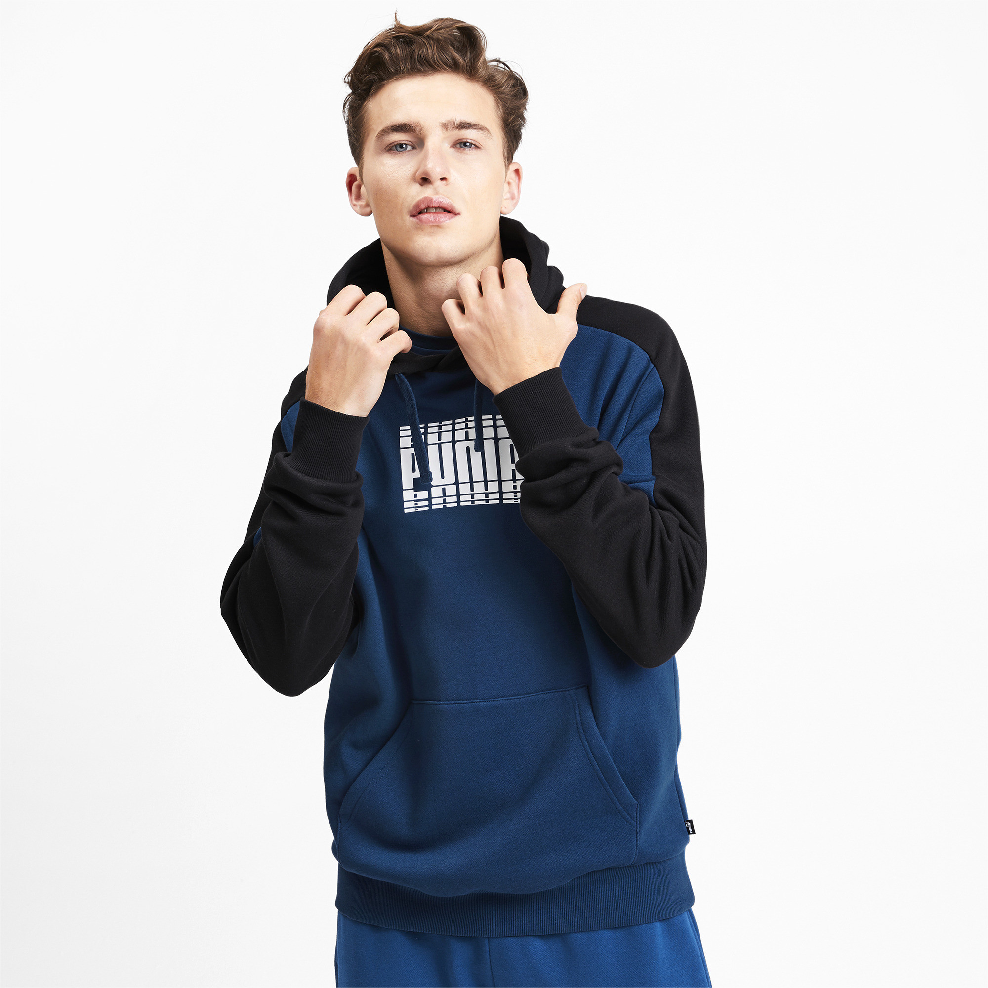 PUMA-Rebel-Block-Men-039-s-Fleece-Hoodie-Men-Sweat-Basics thumbnail 4