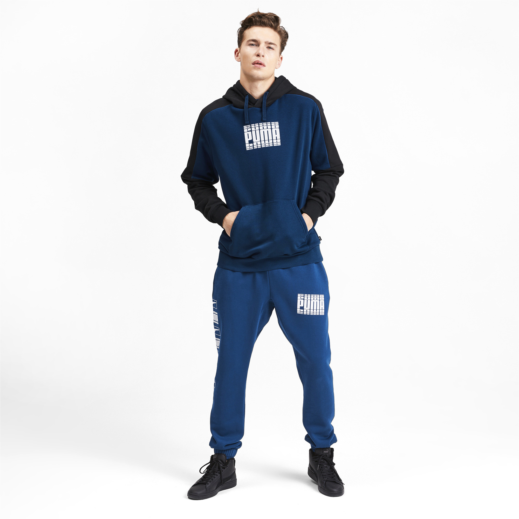 PUMA-Rebel-Block-Men-039-s-Fleece-Hoodie-Men-Sweat-Basics thumbnail 6