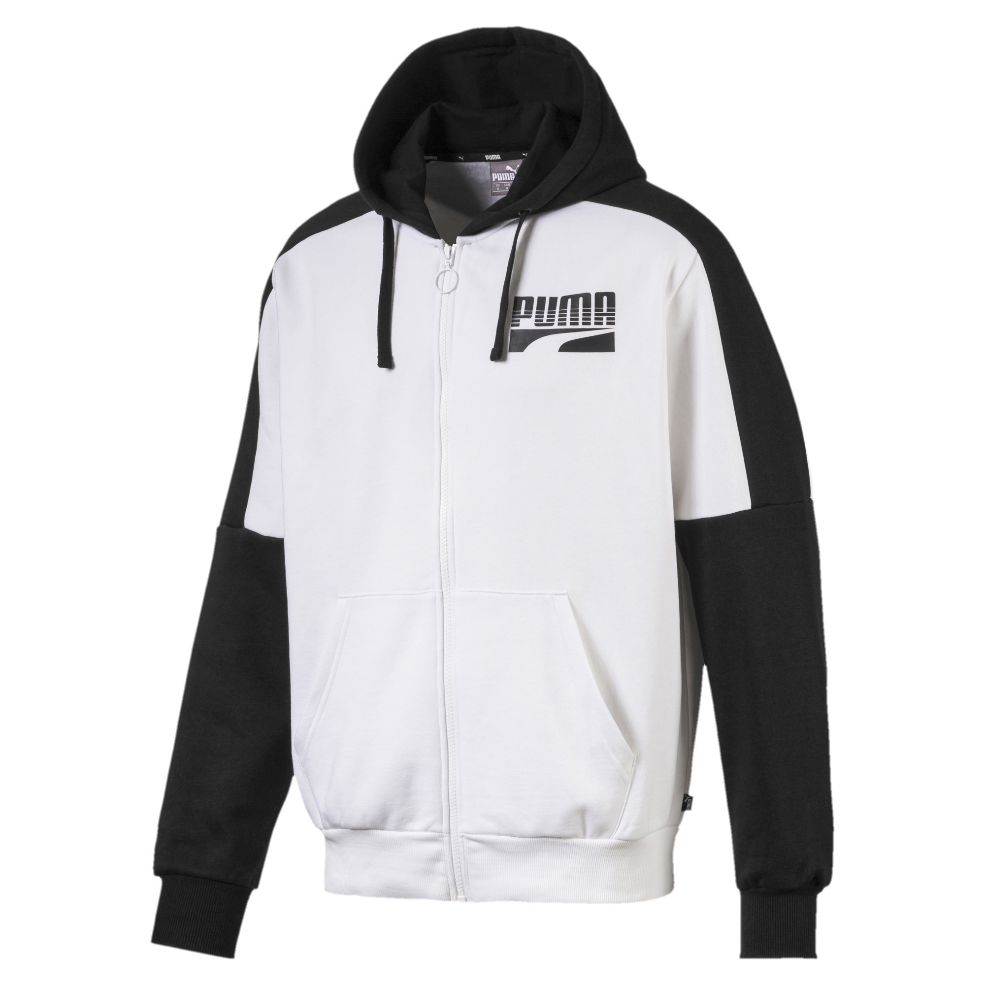 Details about PUMA Rebel Block Men's Full Zip Fleece Hoodie Men Sweat Basics
