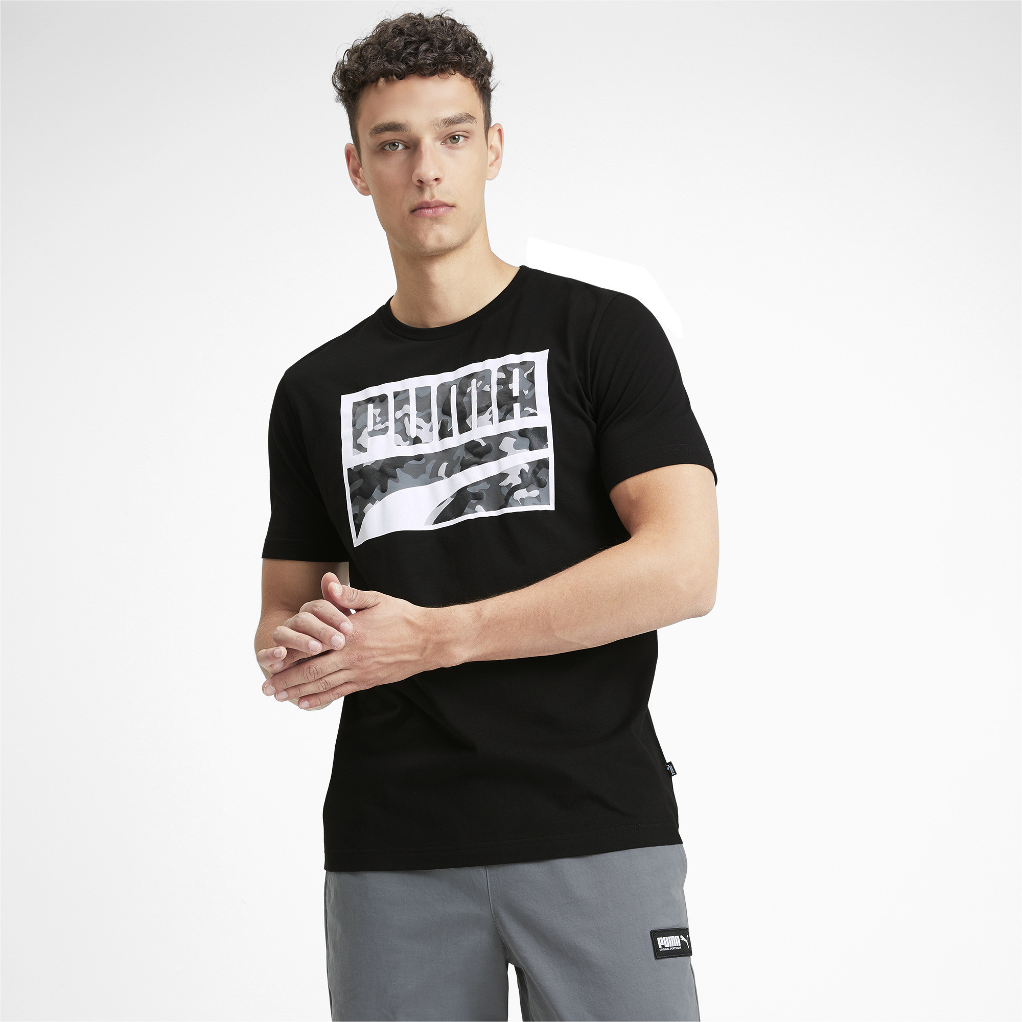 PUMA-Rebel-Camo-Filled-Men-039-s-Tee-Men-Tee-Basics thumbnail 4