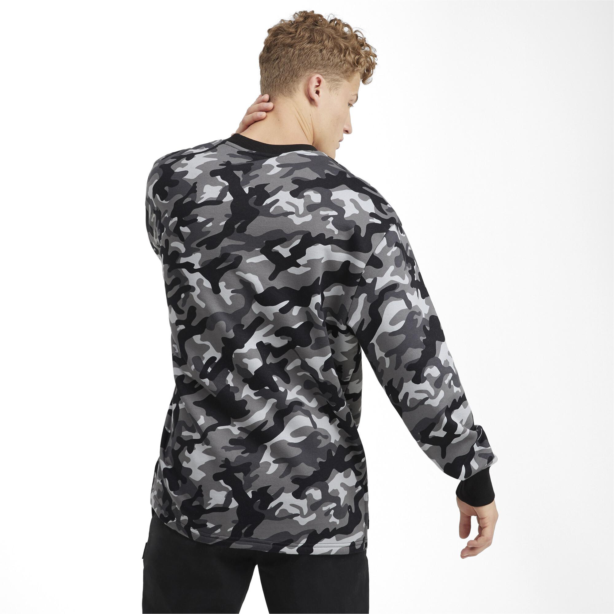 PUMA-Rebel-Camo-Men-039-s-Fleece-Crewneck-Sweatshirt-Men-Sweat-Basics thumbnail 5