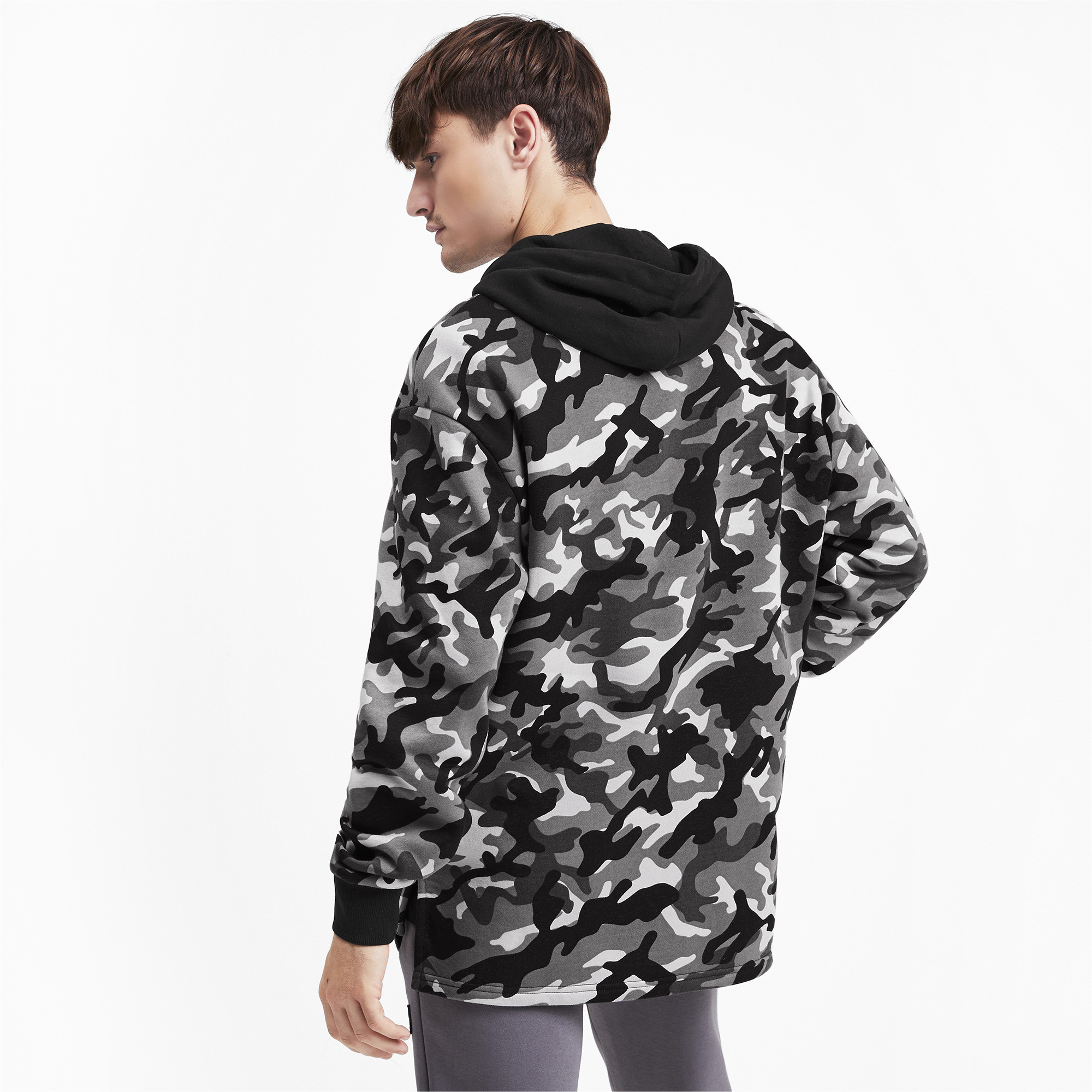 PUMA-Rebel-Camo-Men-039-s-Full-Zip-Fleece-Hoodie-Men-Sweat-Basics thumbnail 5