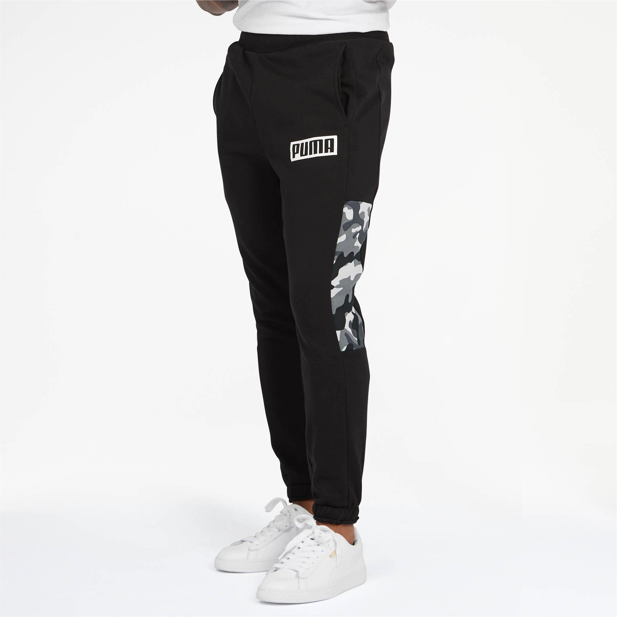 Puma-Pantalones-De-Hombre-Camuflaje-rebelde-hombre-de-punto-pantalones-Basics miniatura 3