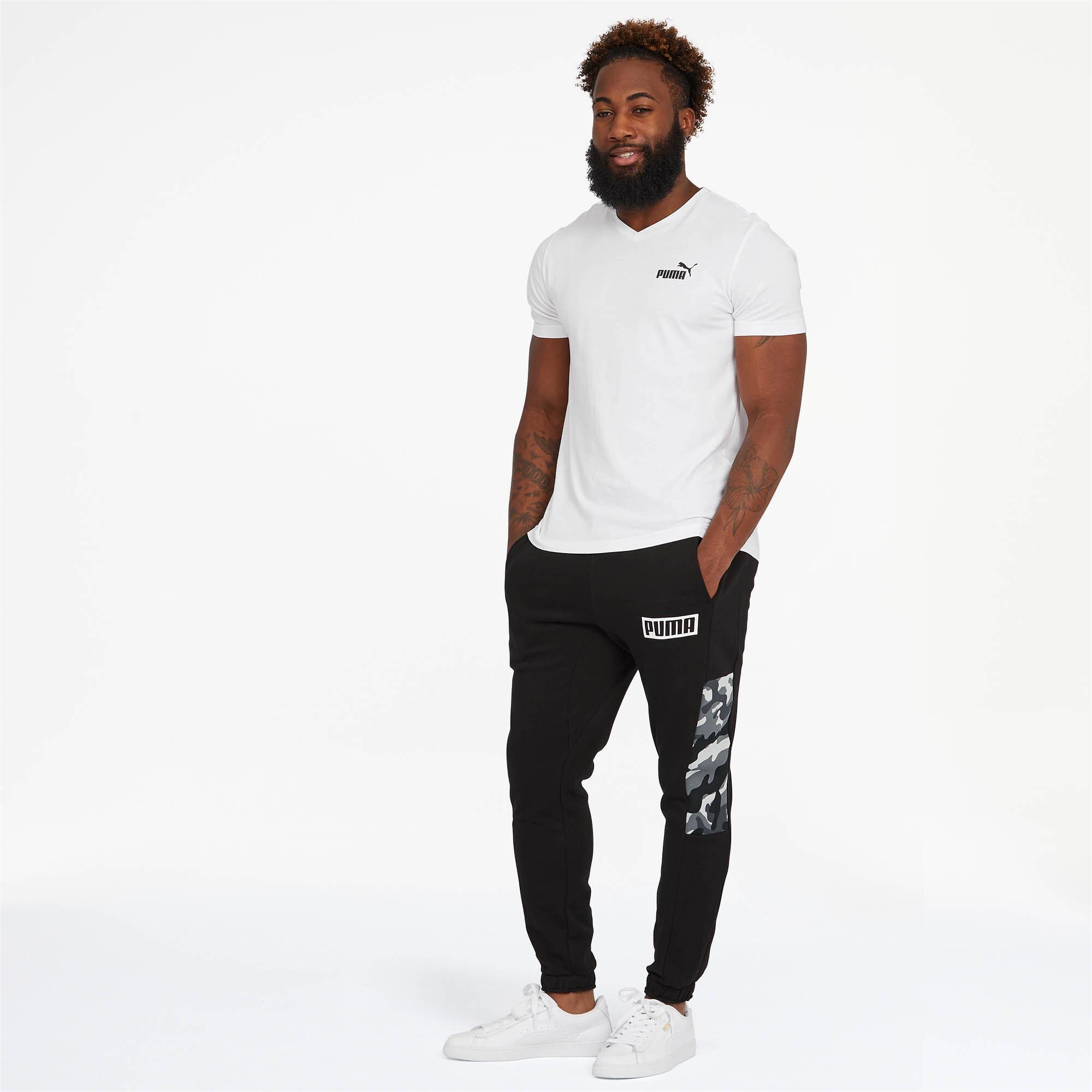 Puma-Pantalones-De-Hombre-Camuflaje-rebelde-hombre-de-punto-pantalones-Basics miniatura 5