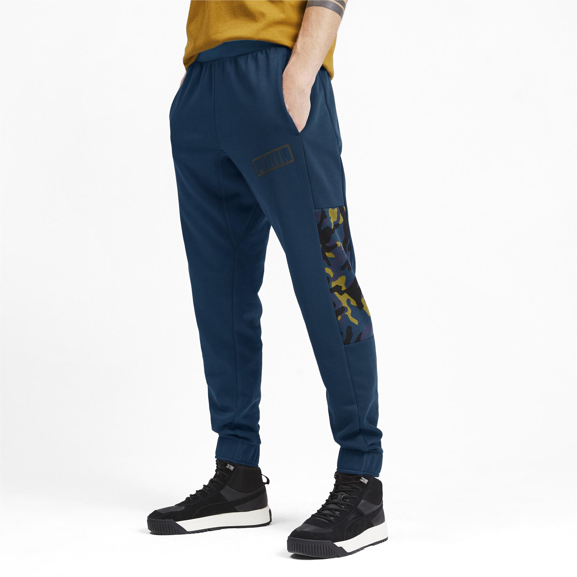 Puma-Pantalones-De-Hombre-Camuflaje-rebelde-hombre-de-punto-pantalones-Basics miniatura 8