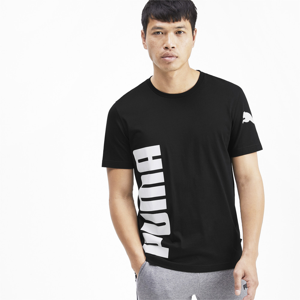 Зображення Puma Футболка Big Logo Graphic Short Sleeve Men's Tee #1