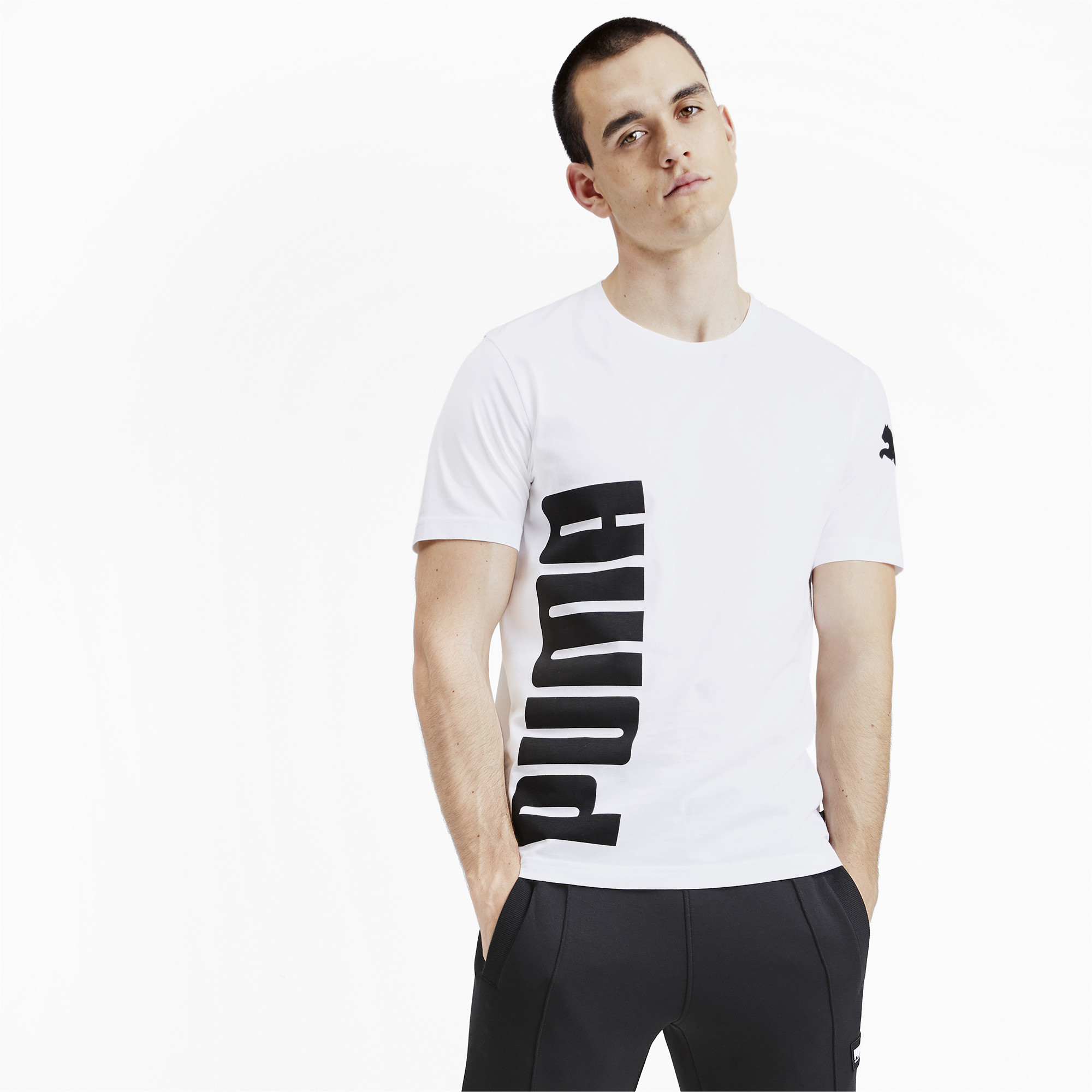PUMA-Big-Logo-Men-039-s-Tee-Men-Tee-Basics thumbnail 28
