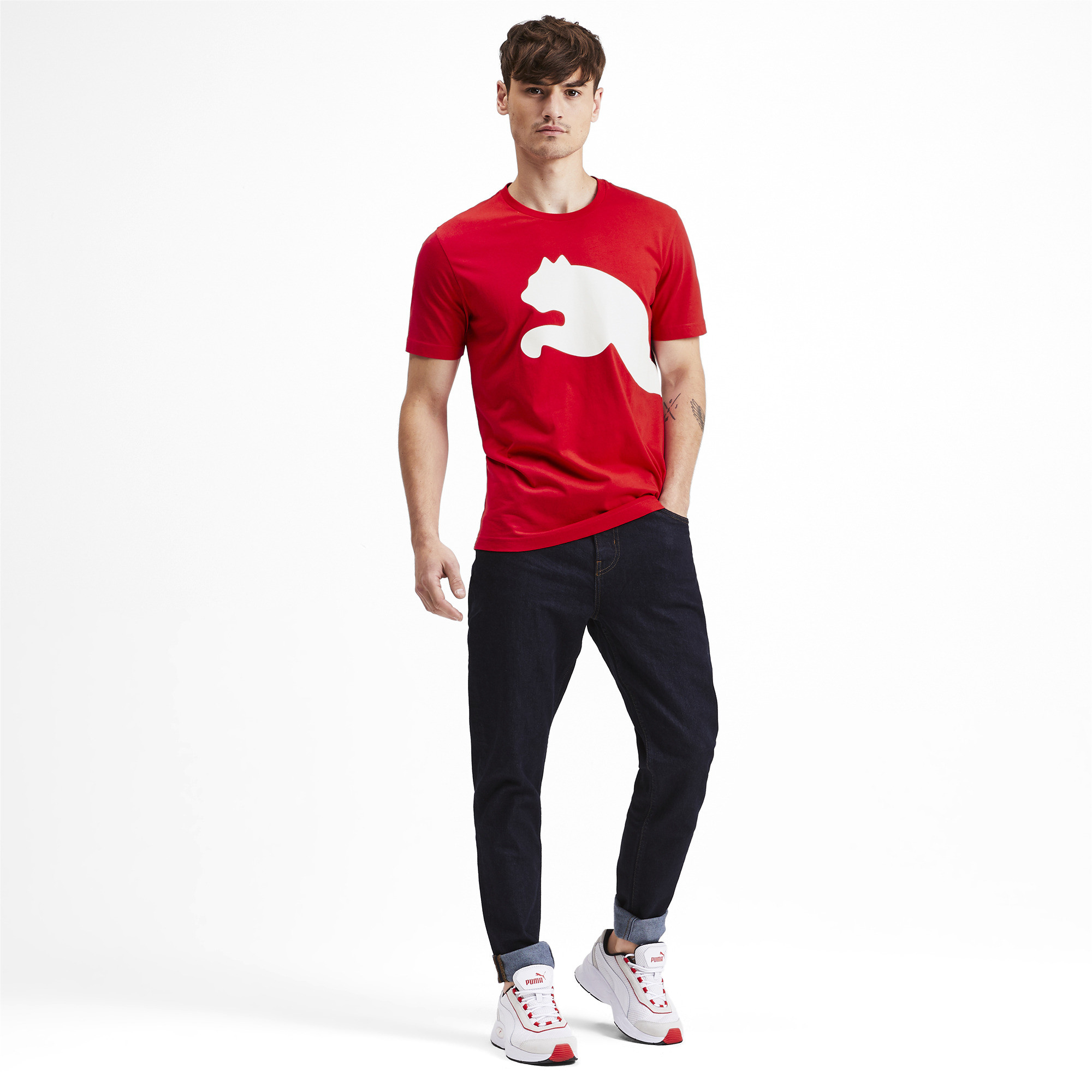 PUMA-Big-Logo-Men-039-s-Tee-Men-Tee-Basics thumbnail 27
