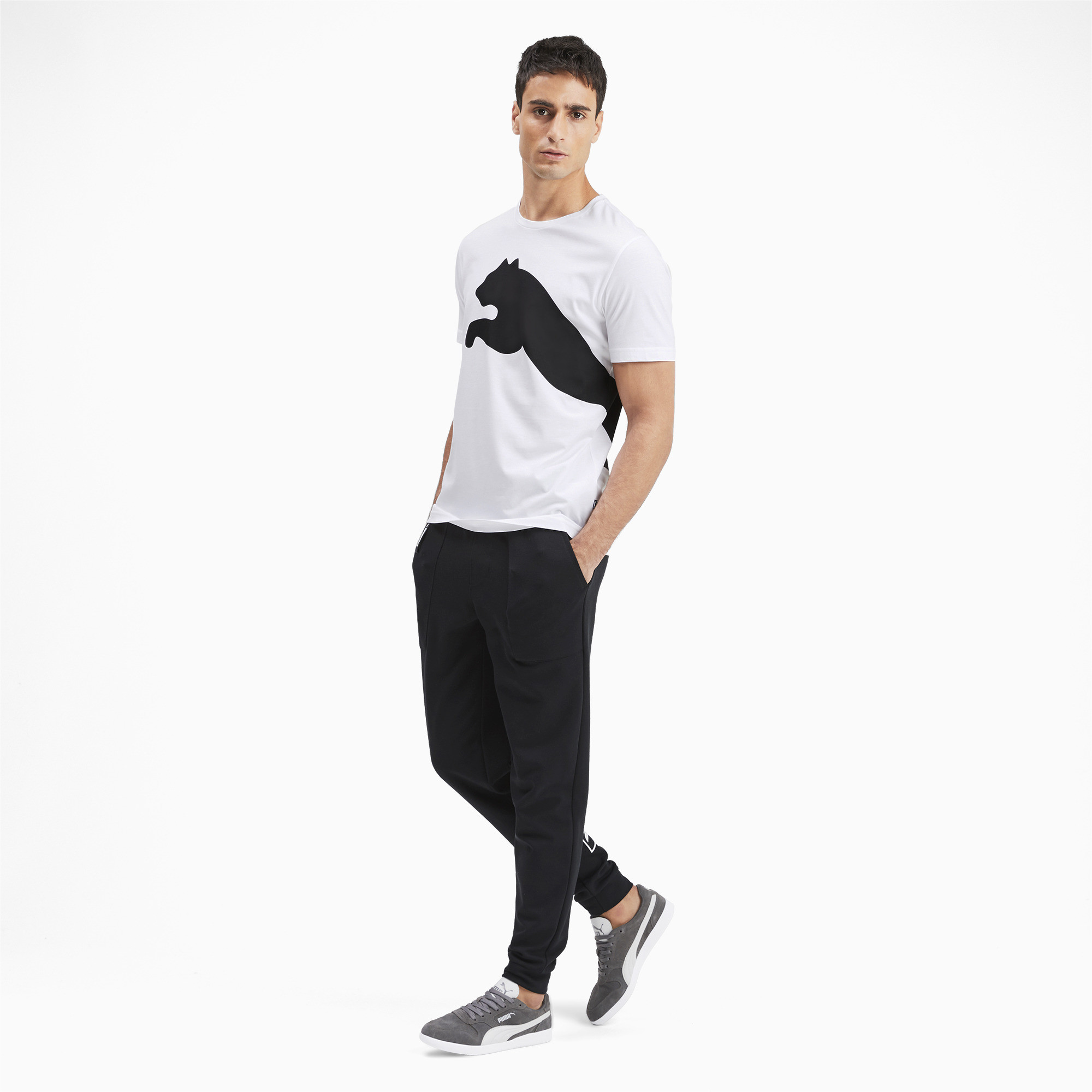 PUMA-Big-Logo-Men-039-s-Tee-Men-Tee-Basics thumbnail 6