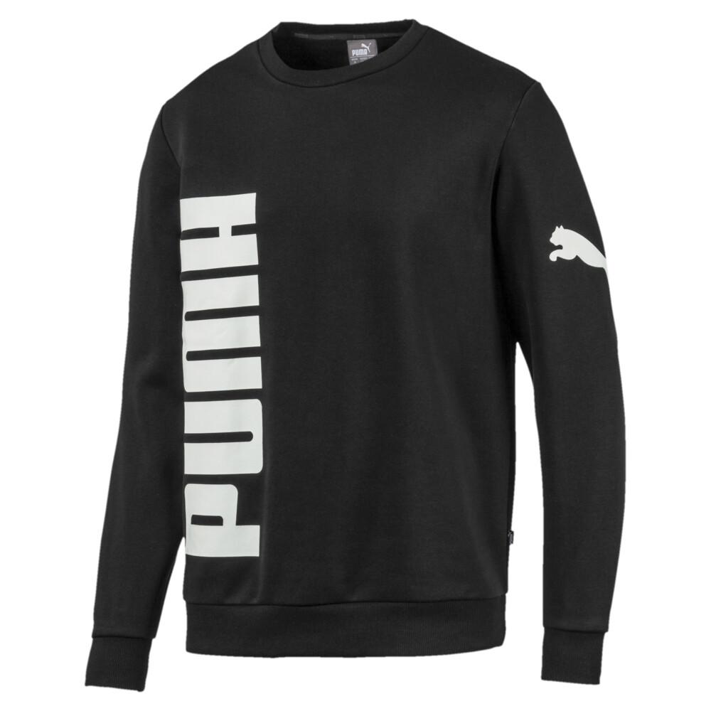 Image PUMA Big Logo Fleece Graphic Long Sleeve Crew Men's Sweater #1