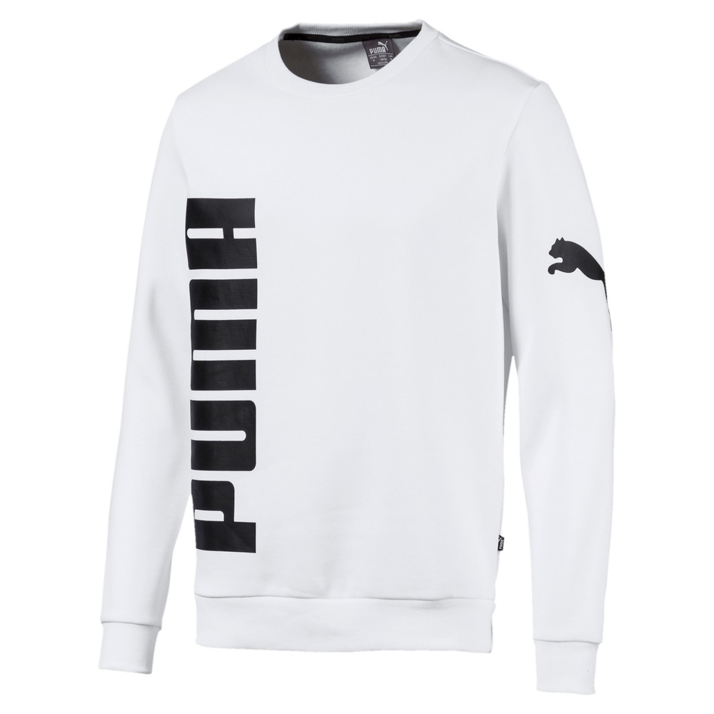 Image Puma Big Logo Fleece Graphic Long Sleeve Crew Men's Sweater #1