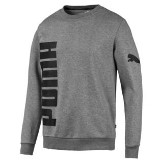 Image Puma Big Logo Fleece Graphic Long Sleeve Crew Men's Sweater