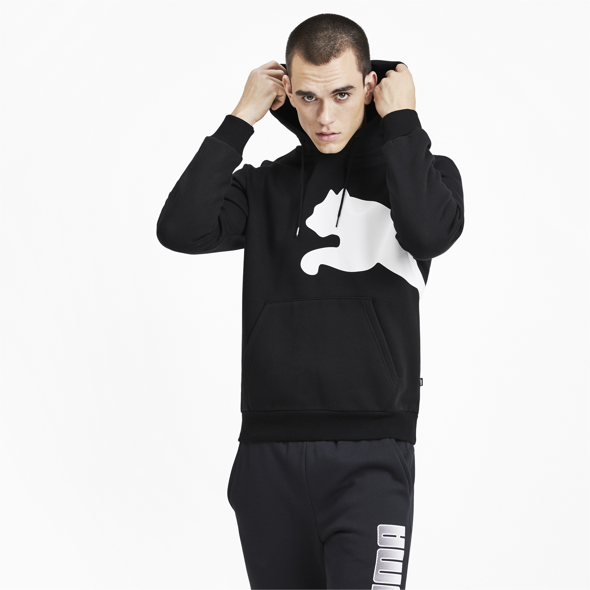 PUMA-Big-Logo-Men-039-s-Fleece-Hoodie-Men-Sweat-Basics thumbnail 9