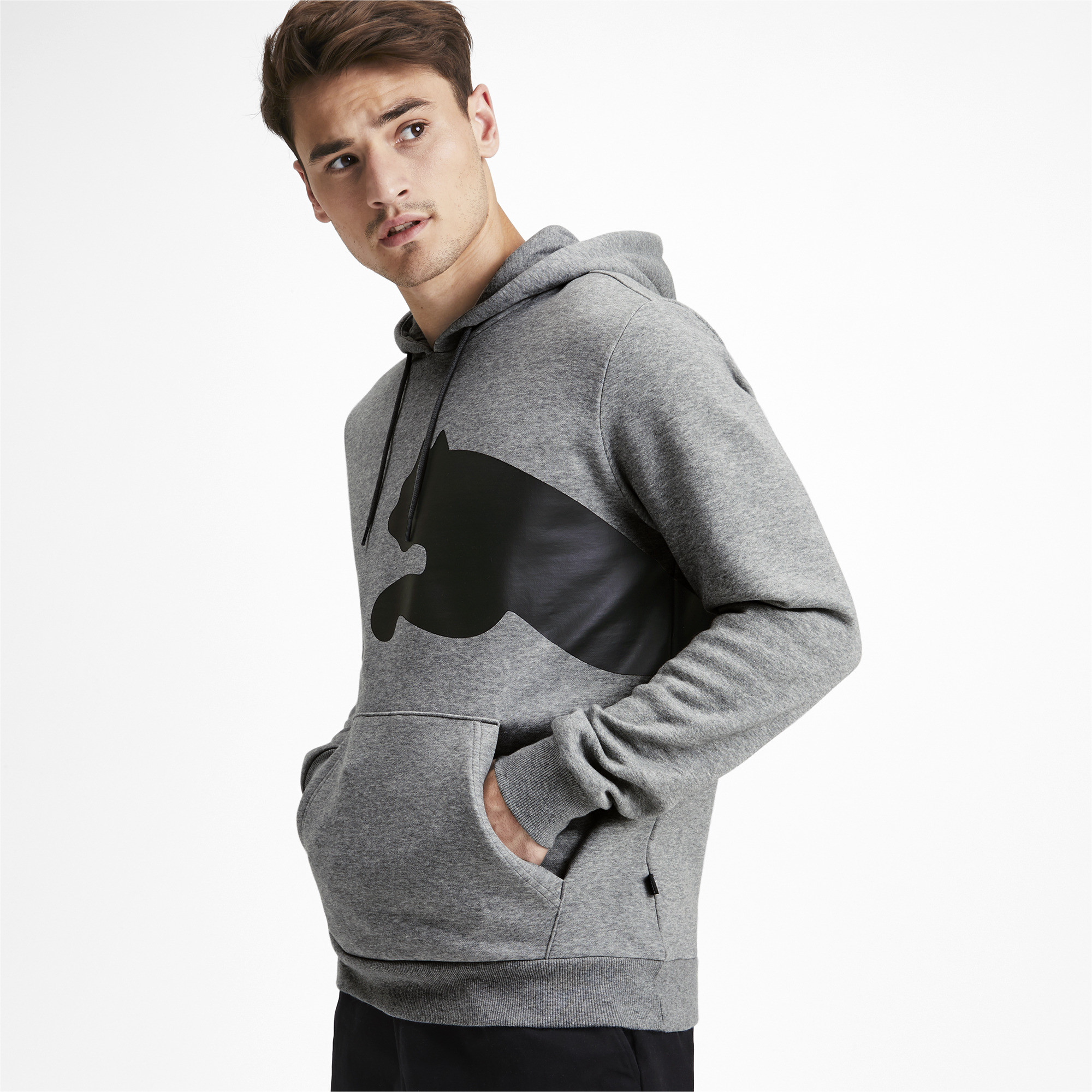 PUMA-Big-Logo-Men-039-s-Fleece-Hoodie-Men-Sweat-Basics thumbnail 4