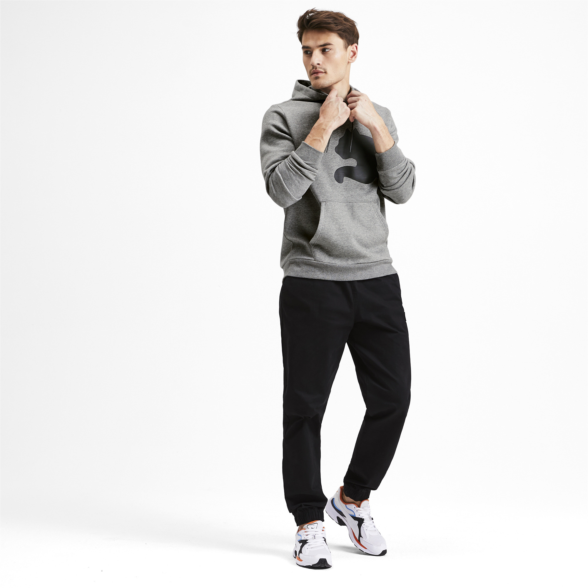 PUMA-Big-Logo-Men-039-s-Fleece-Hoodie-Men-Sweat-Basics thumbnail 6