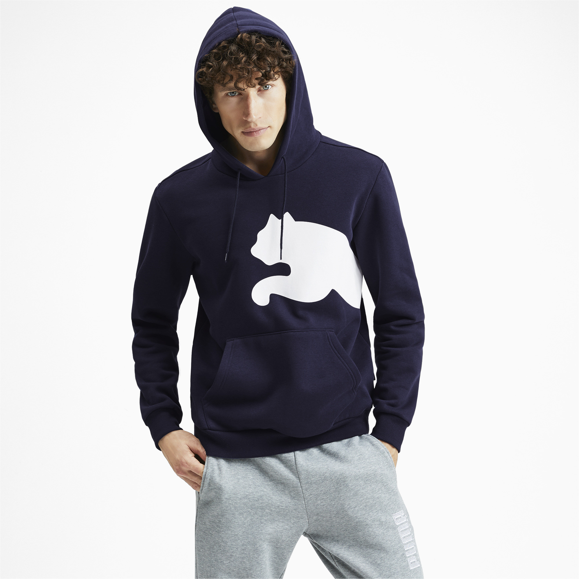 PUMA-Big-Logo-Men-039-s-Fleece-Hoodie-Men-Sweat-Basics thumbnail 19