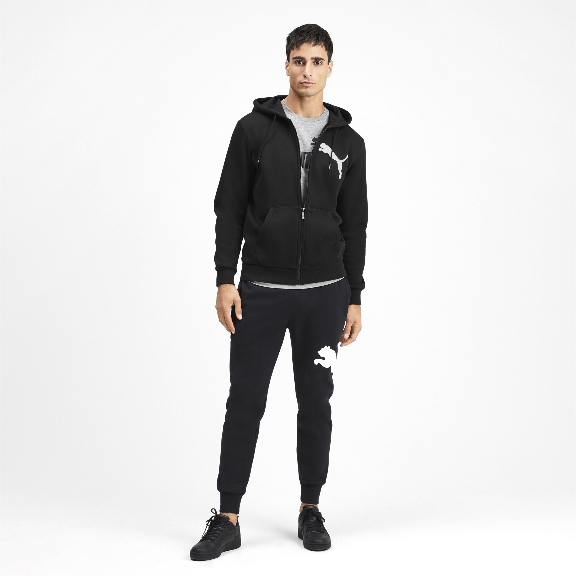 PUMA-Big-Logo-Men-039-s-Full-Zip-Hoodie-Men-Sweat-Basics thumbnail 16