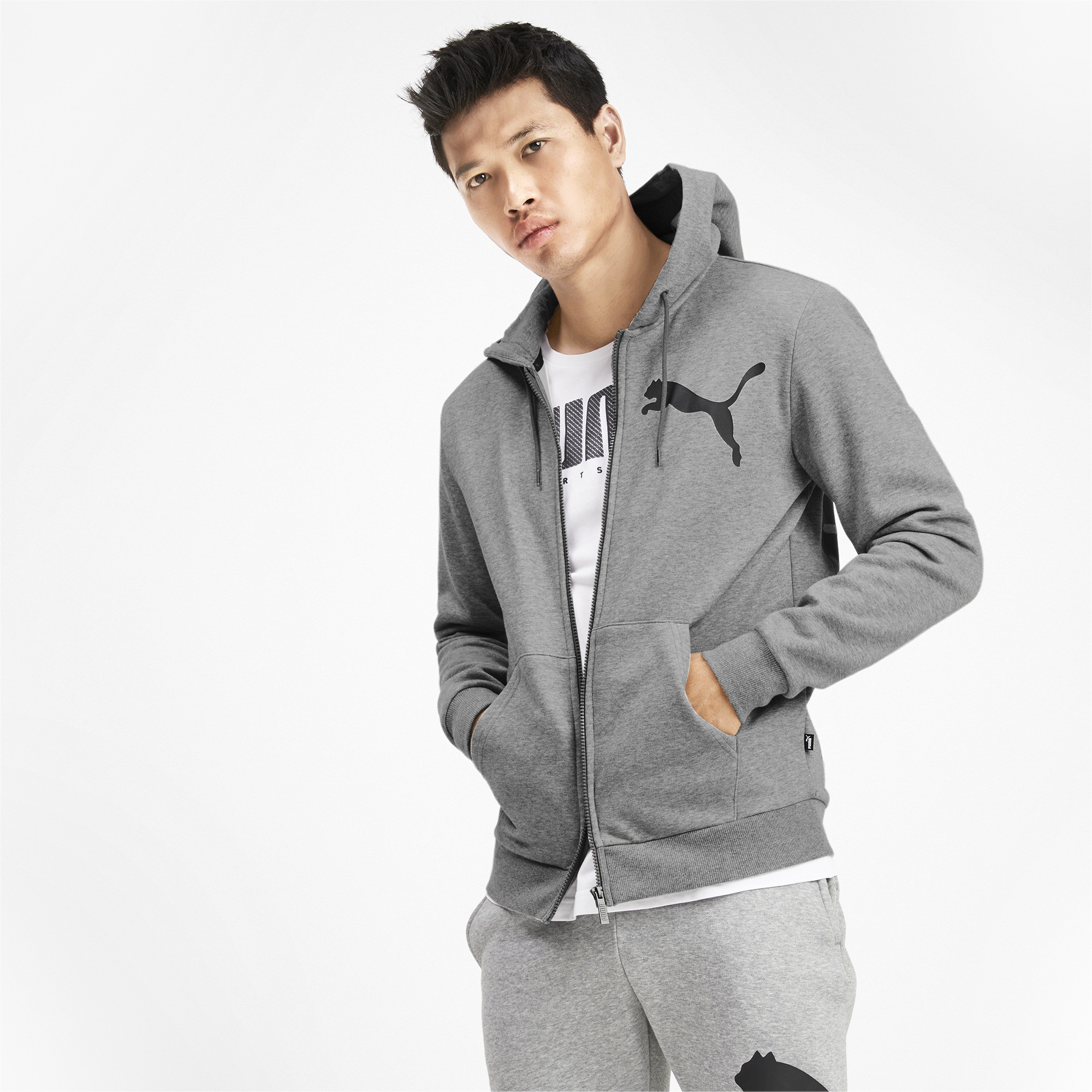PUMA-Big-Logo-Men-039-s-Full-Zip-Hoodie-Men-Sweat-Basics thumbnail 9