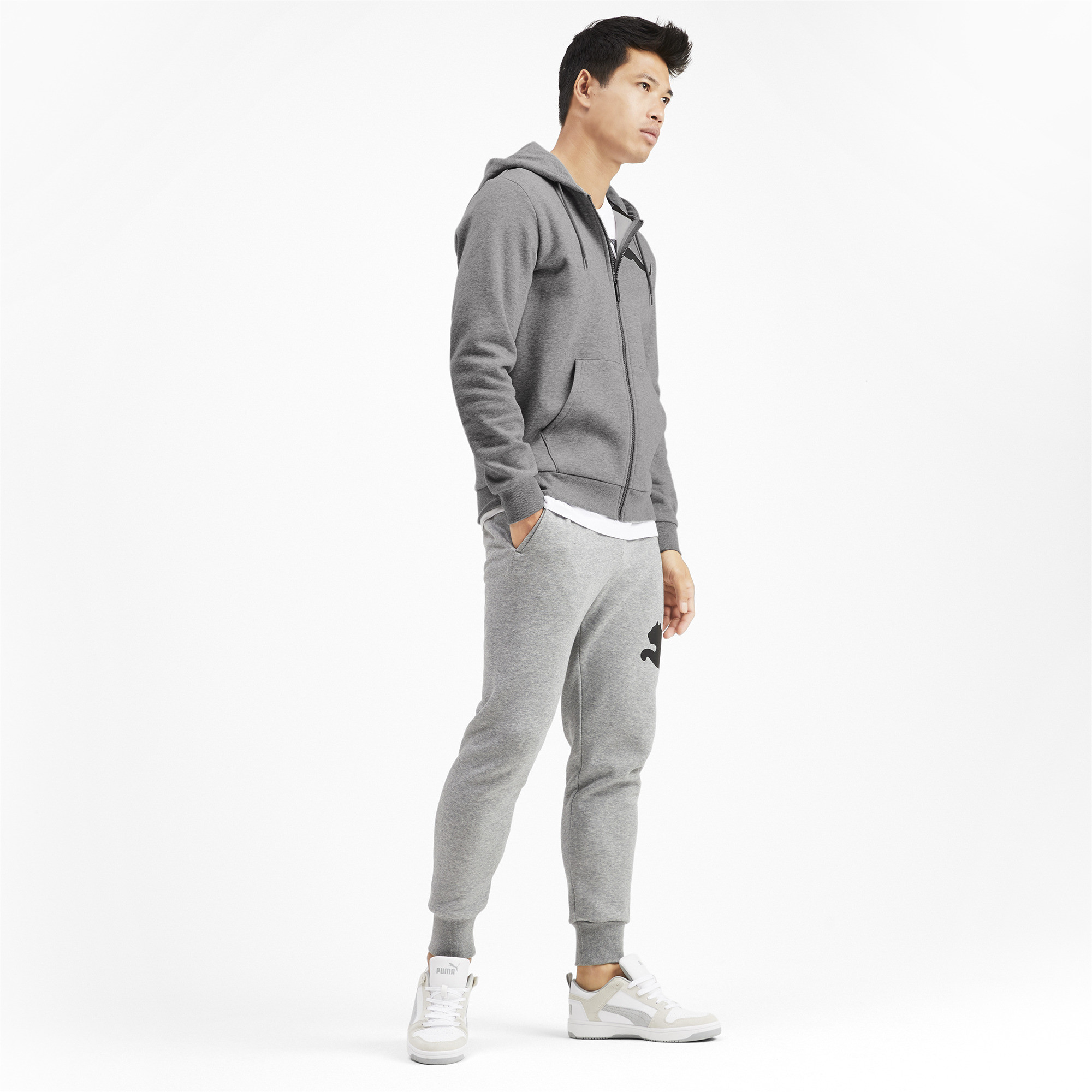 PUMA-Big-Logo-Men-039-s-Full-Zip-Hoodie-Men-Sweat-Basics thumbnail 11