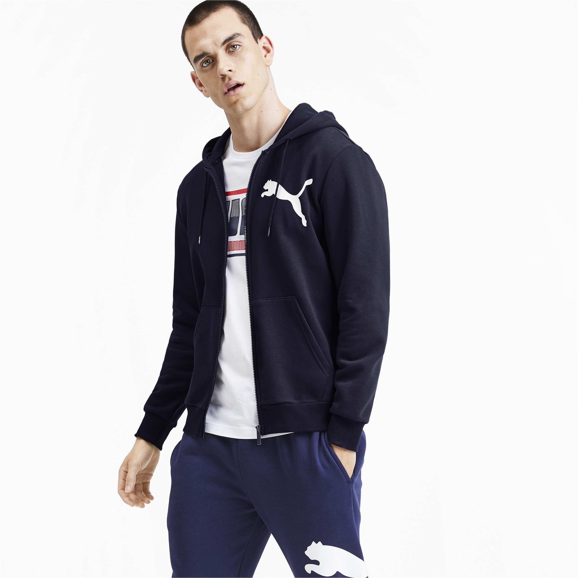 PUMA-Big-Logo-Men-039-s-Full-Zip-Hoodie-Men-Sweat-Basics thumbnail 4