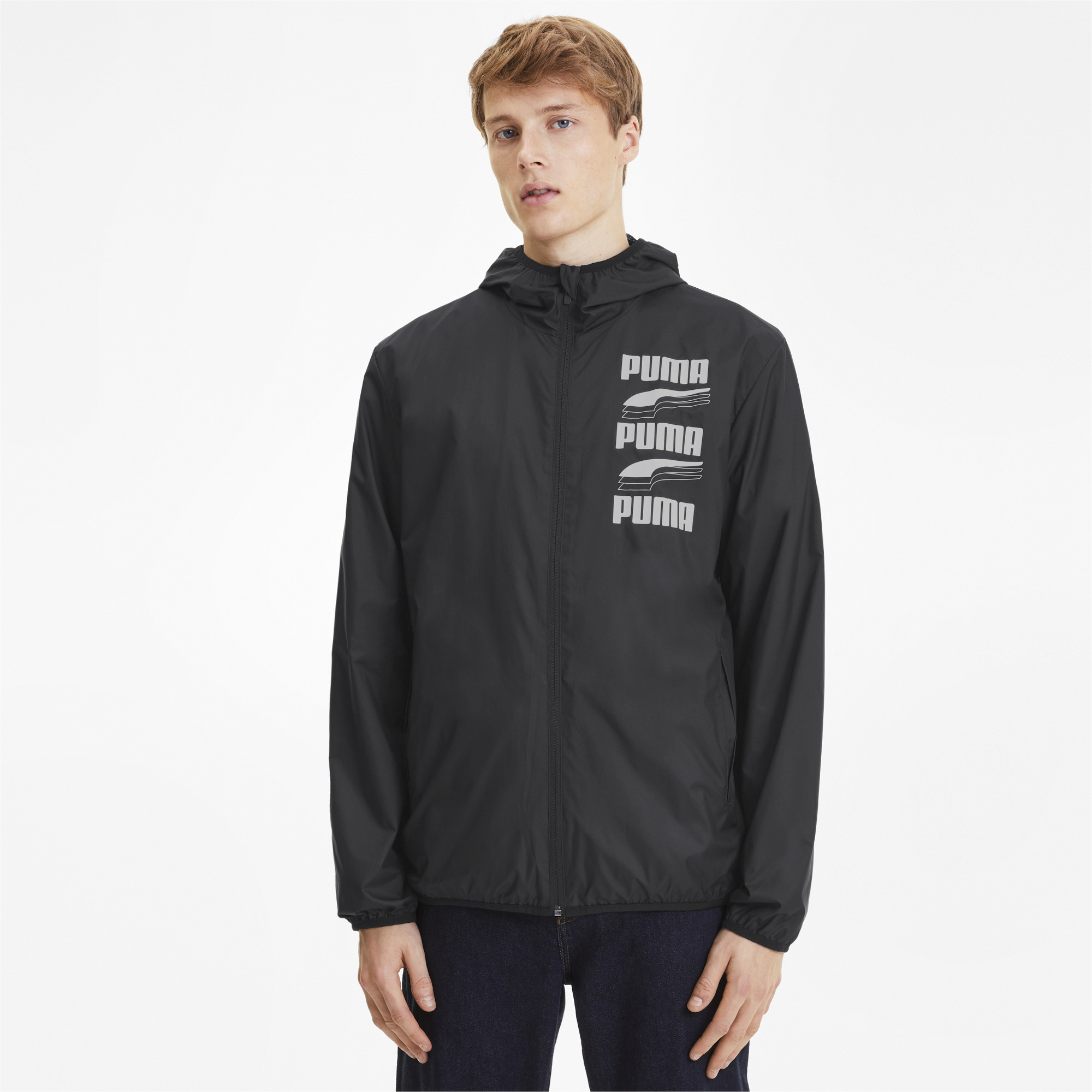 PUMA-Men-039-s-Essentials-Rebel-Windbreaker thumbnail 4