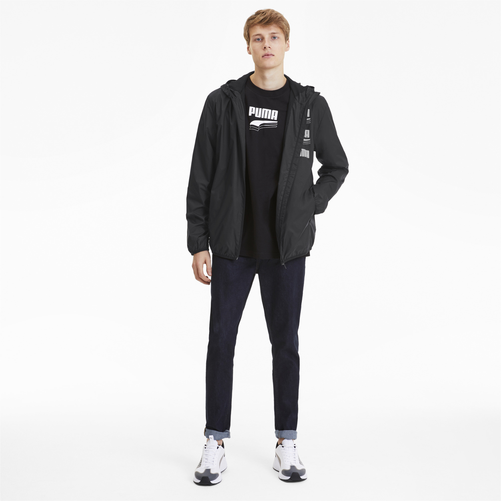 PUMA-Men-039-s-Essentials-Rebel-Windbreaker thumbnail 6