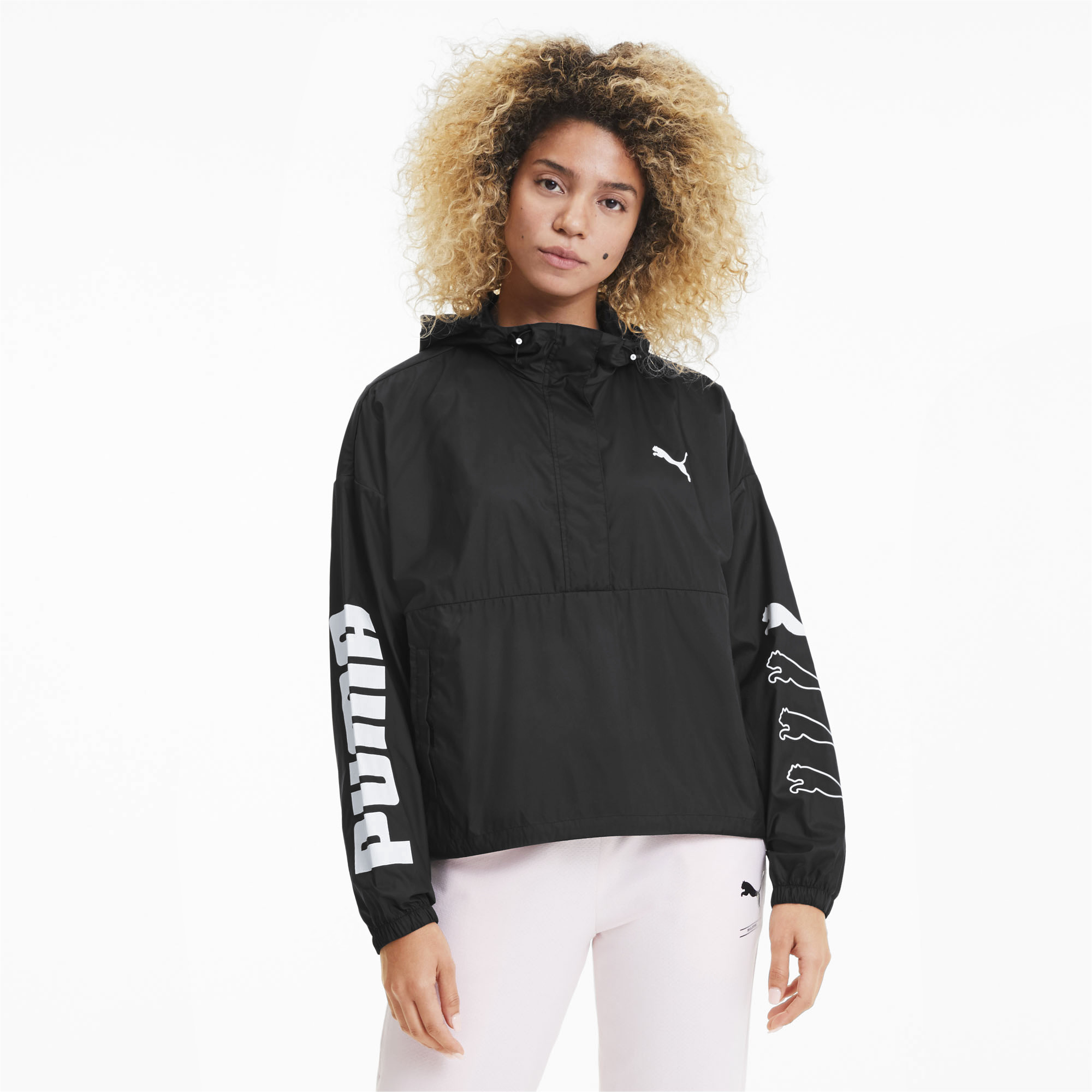 PUMA-Women-039-s-Half-Zip-Windbreaker thumbnail 4