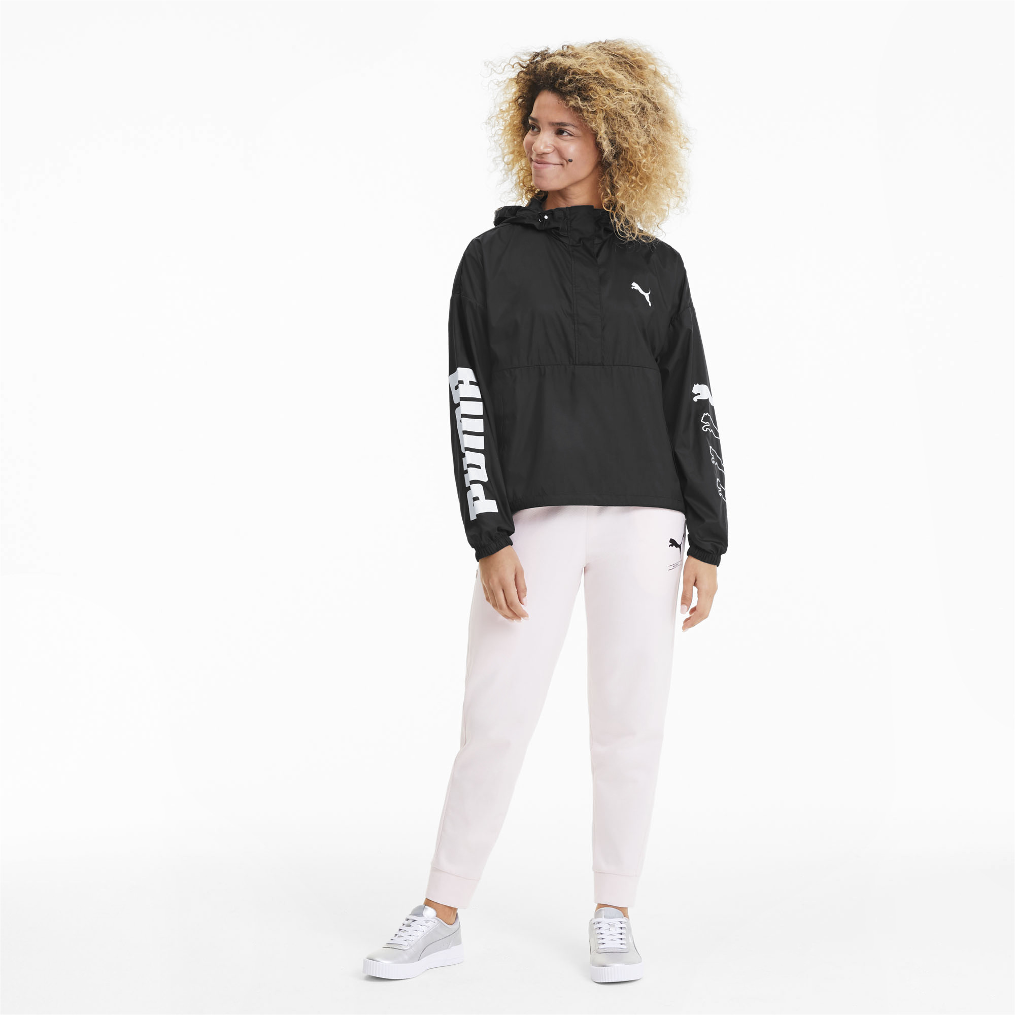 PUMA-Women-039-s-Half-Zip-Windbreaker thumbnail 6