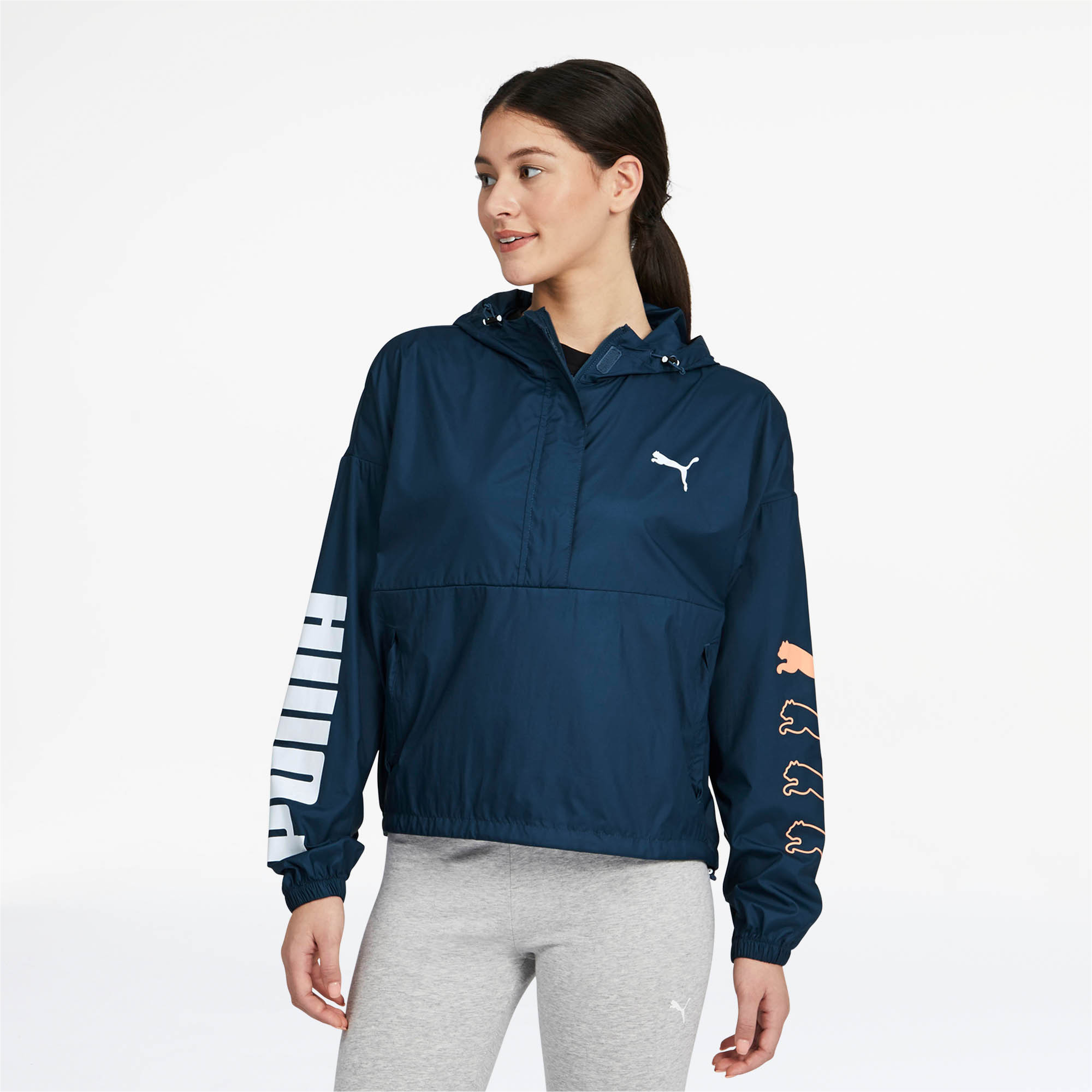 PUMA-Women-039-s-Half-Zip-Windbreaker thumbnail 9