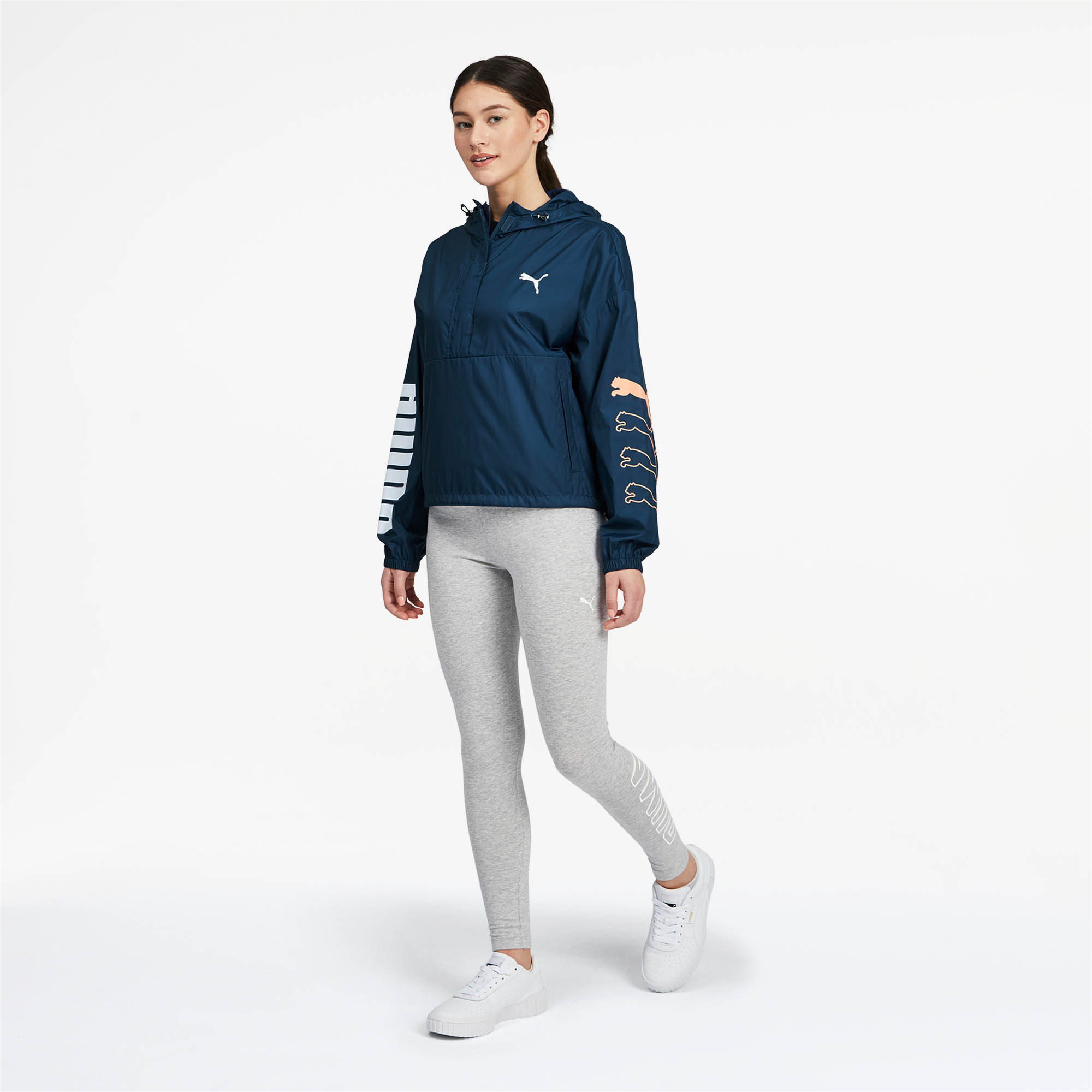 PUMA-Women-039-s-Half-Zip-Windbreaker thumbnail 11