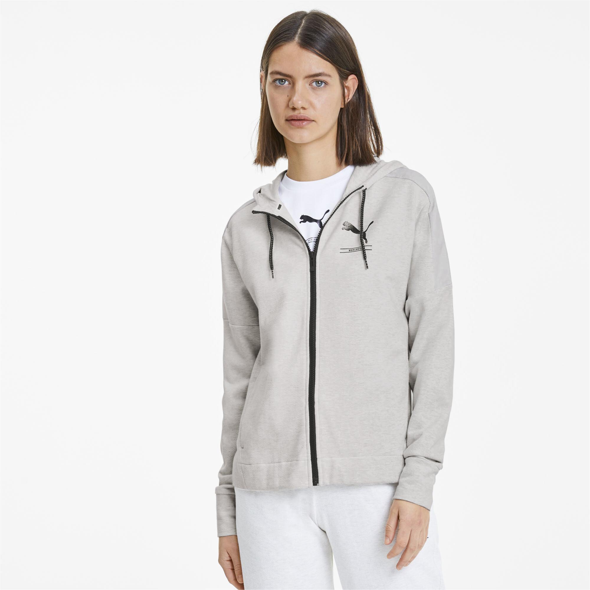 PUMA-NU-TILITY-Women-039-s-Full-Zip-Hoodie-Women-Sweat-Basics miniatuur 15