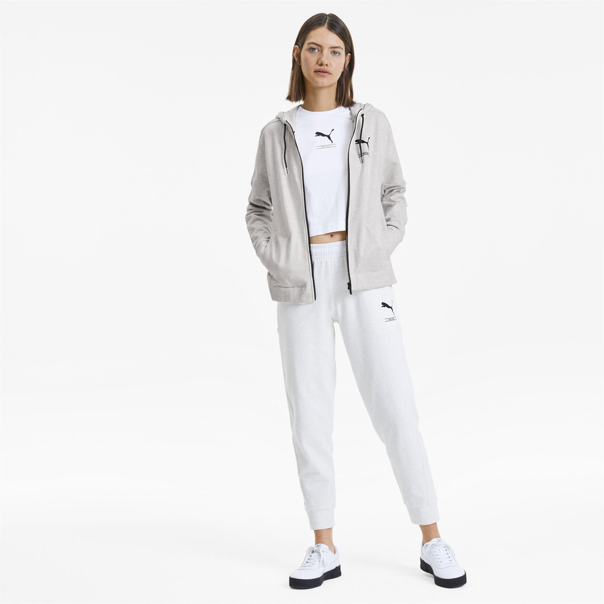 PUMA-NU-TILITY-Women-039-s-Full-Zip-Hoodie-Women-Sweat-Basics miniatuur 17