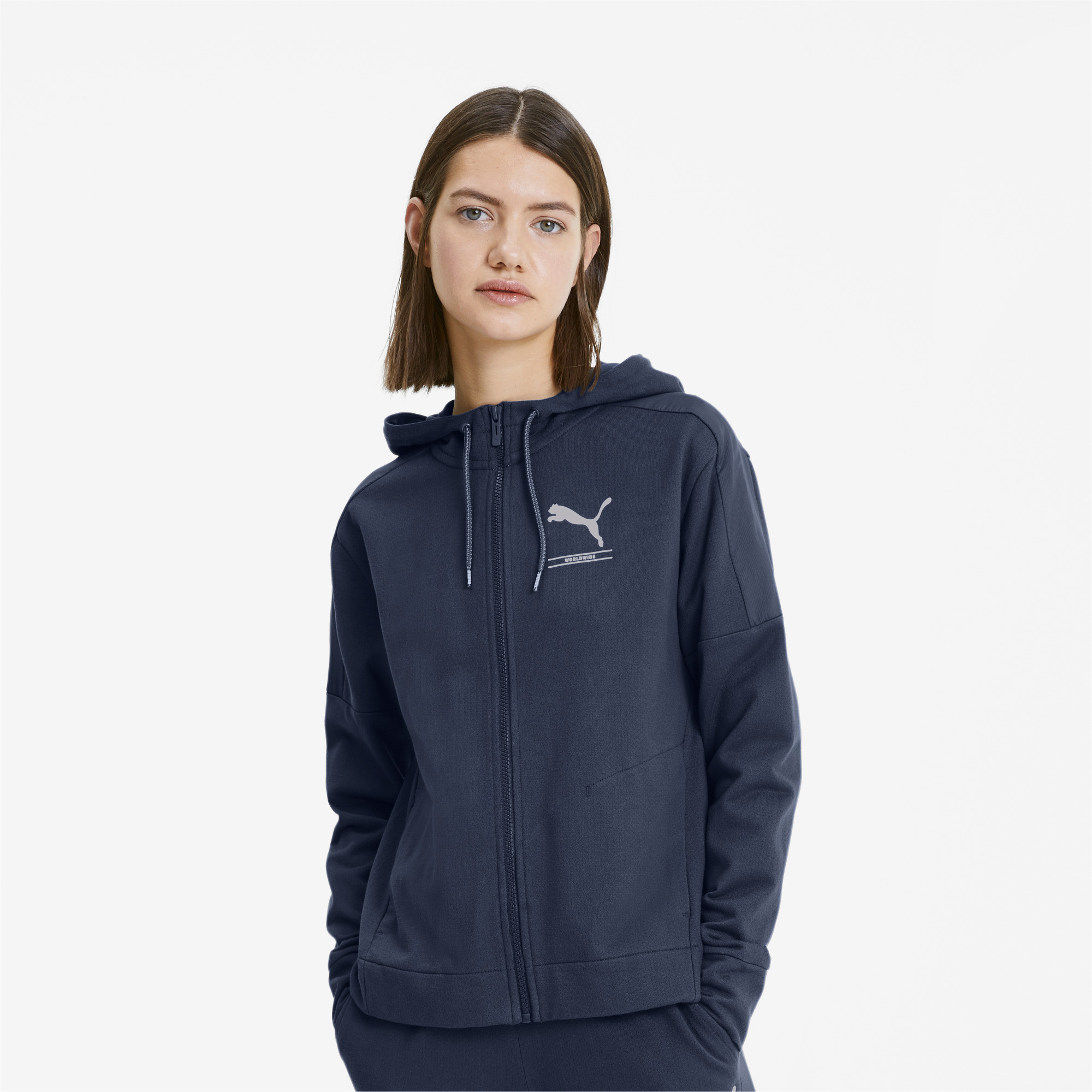 PUMA-NU-TILITY-Women-039-s-Full-Zip-Hoodie-Women-Sweat-Basics miniatuur 4