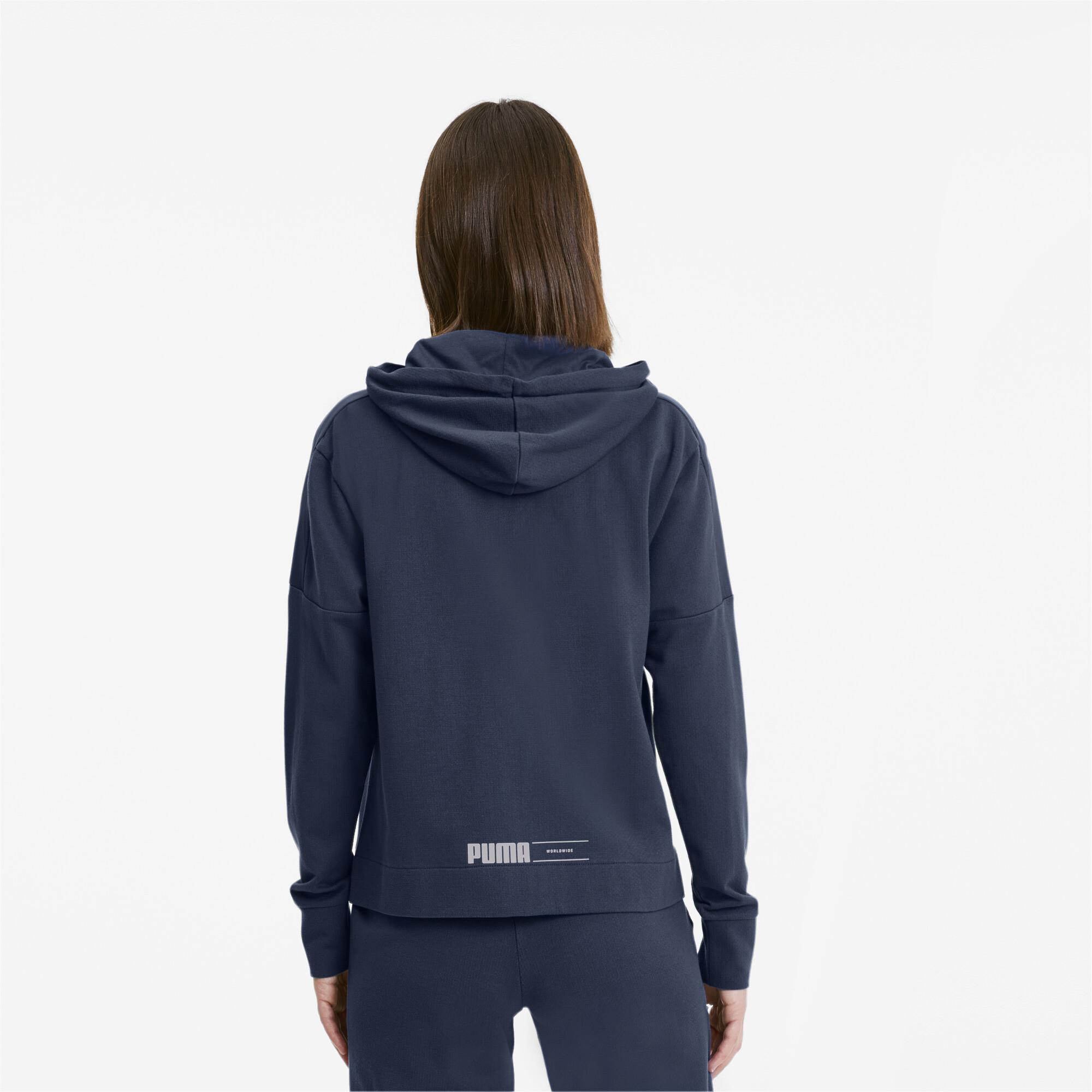 PUMA-NU-TILITY-Women-039-s-Full-Zip-Hoodie-Women-Sweat-Basics miniatuur 5
