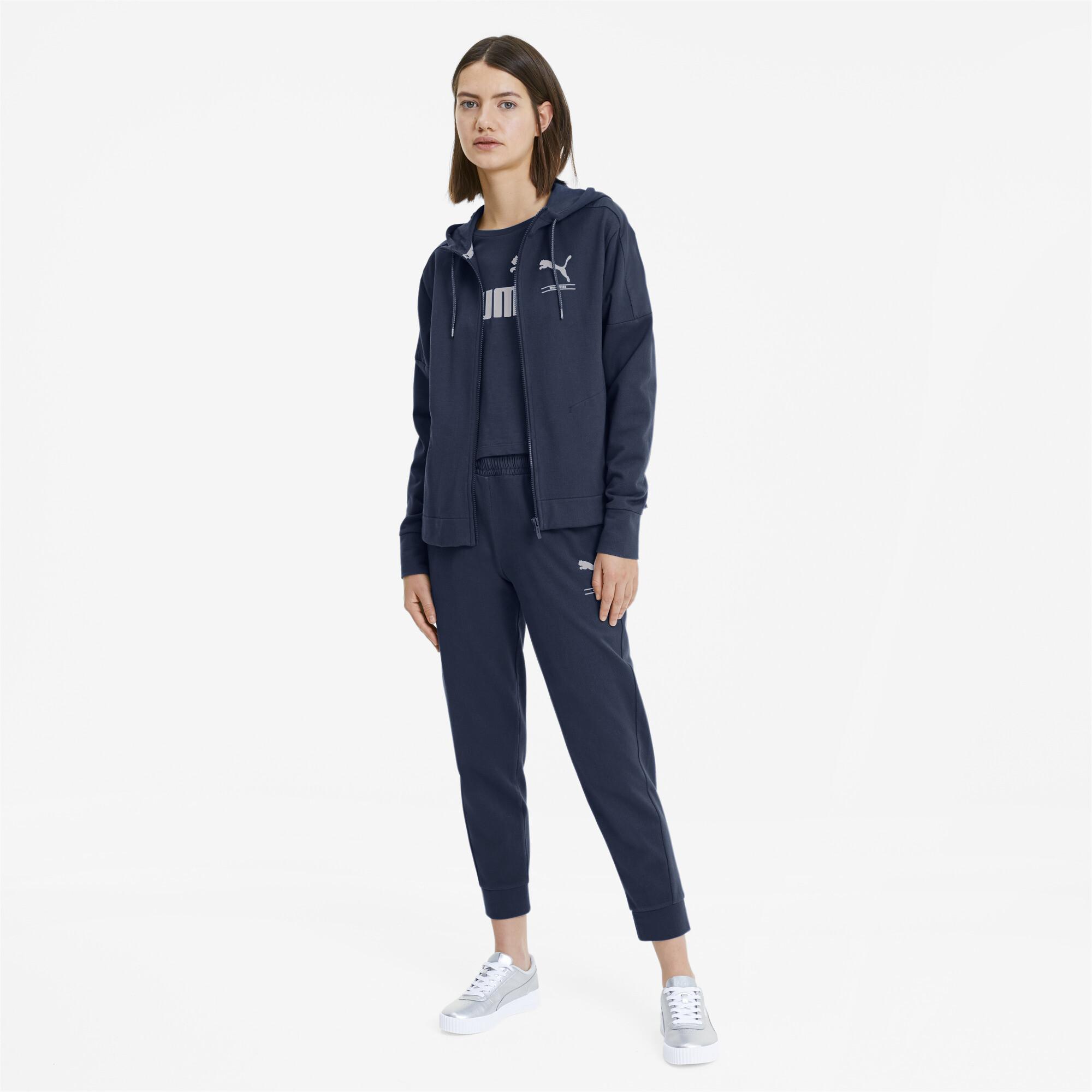 PUMA-NU-TILITY-Women-039-s-Full-Zip-Hoodie-Women-Sweat-Basics miniatuur 6