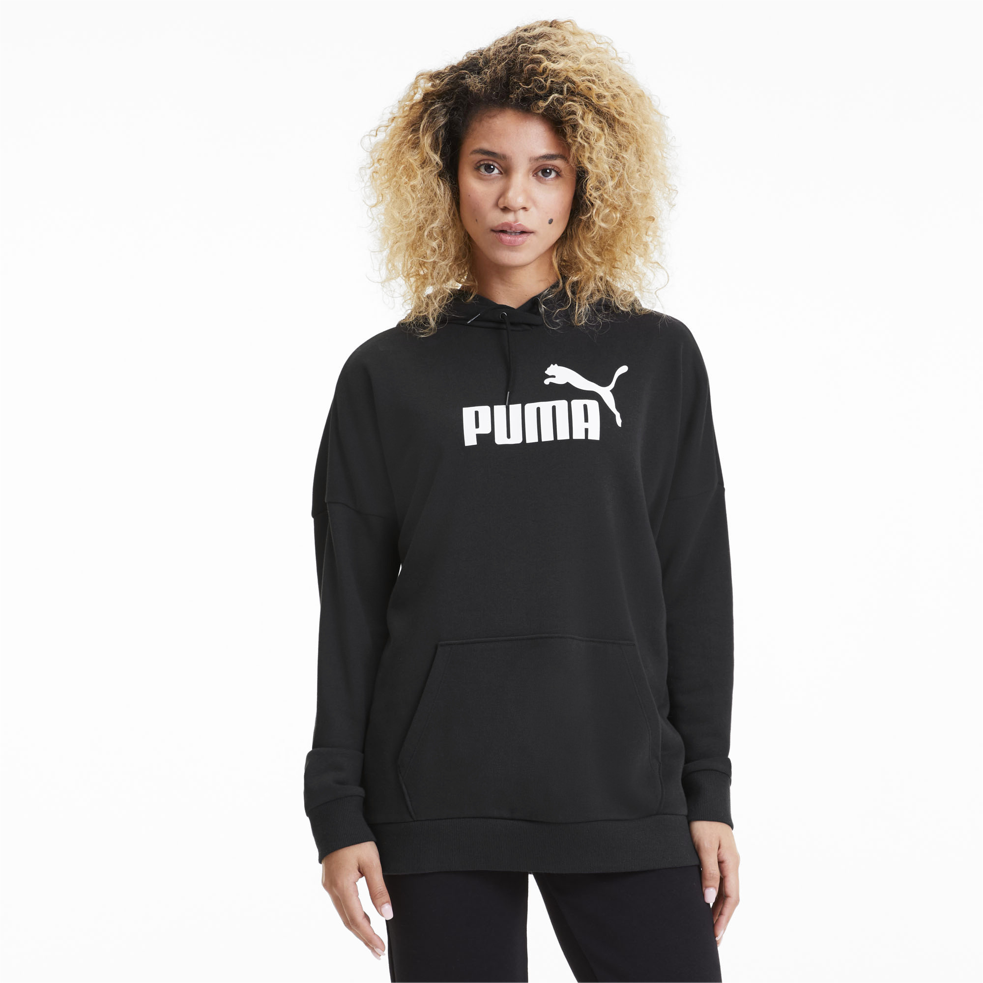 PUMA-Women-039-s-Essentials-Elongated-Hoodie thumbnail 4