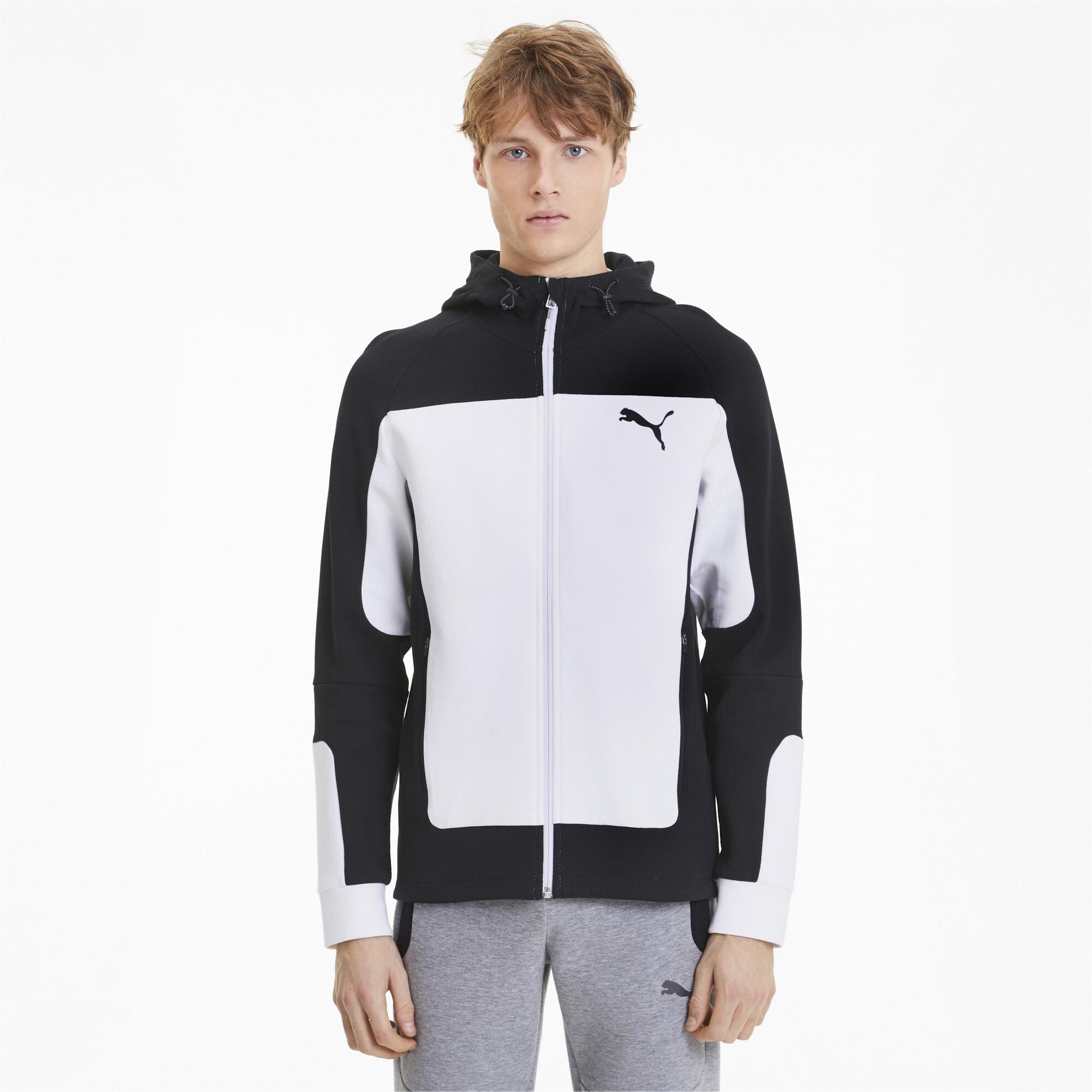 PUMA-Evostripe-Men-039-s-Hooded-Jacket-Men-Sweat-Basics thumbnail 9