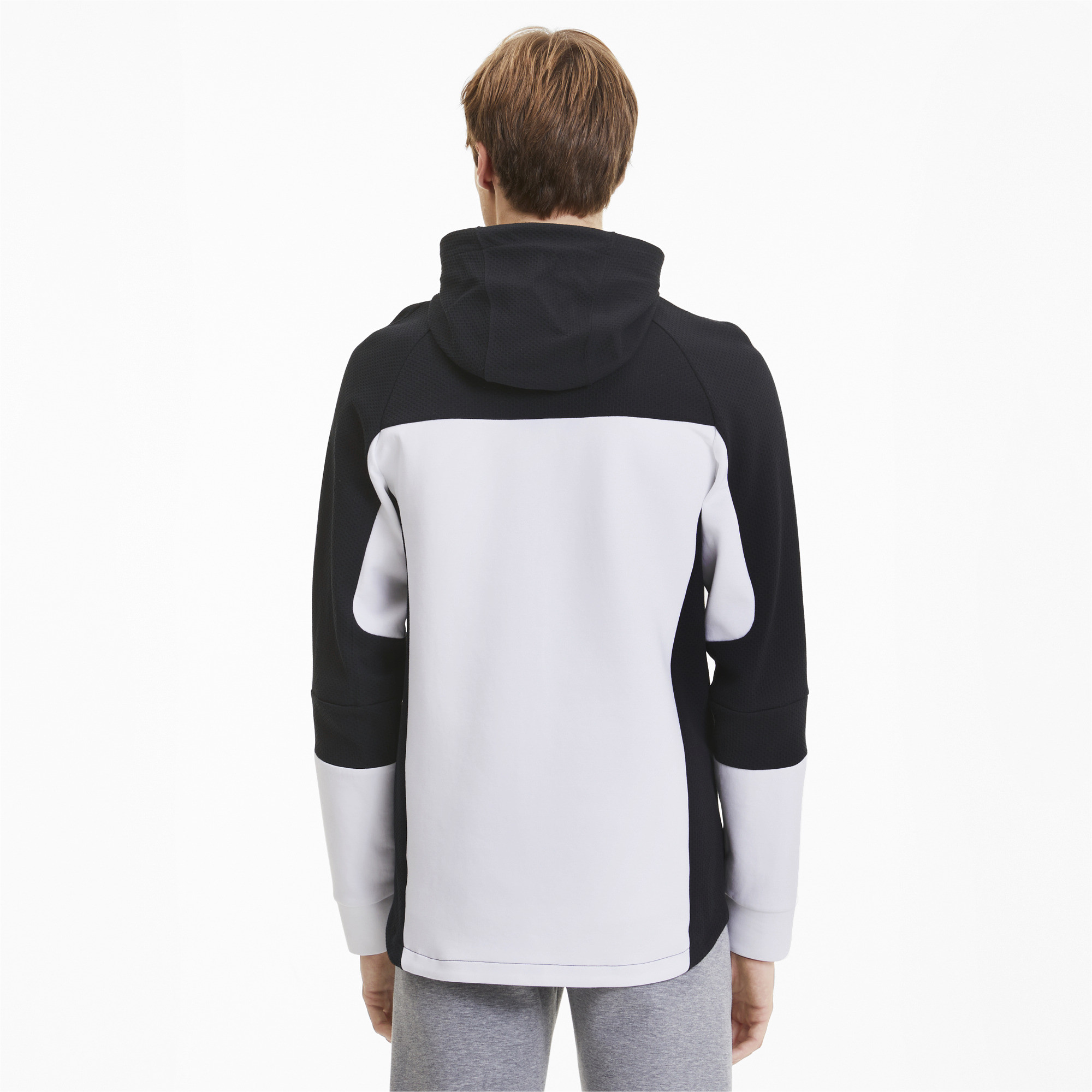 PUMA-Evostripe-Men-039-s-Hooded-Jacket-Men-Sweat-Basics thumbnail 10