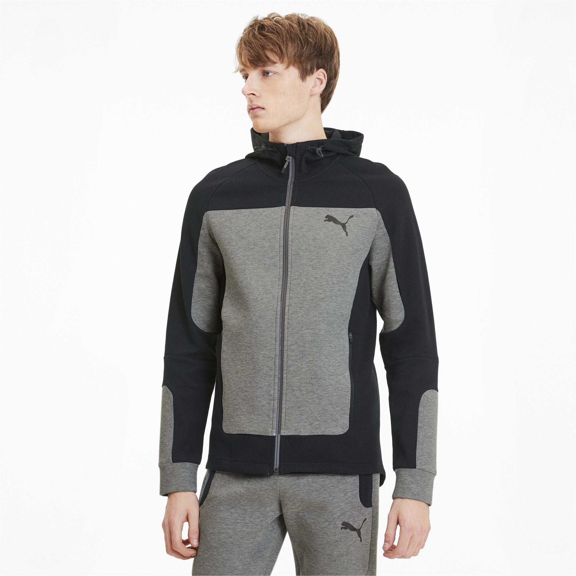 PUMA-Evostripe-Men-039-s-Hooded-Jacket-Men-Sweat-Basics thumbnail 19