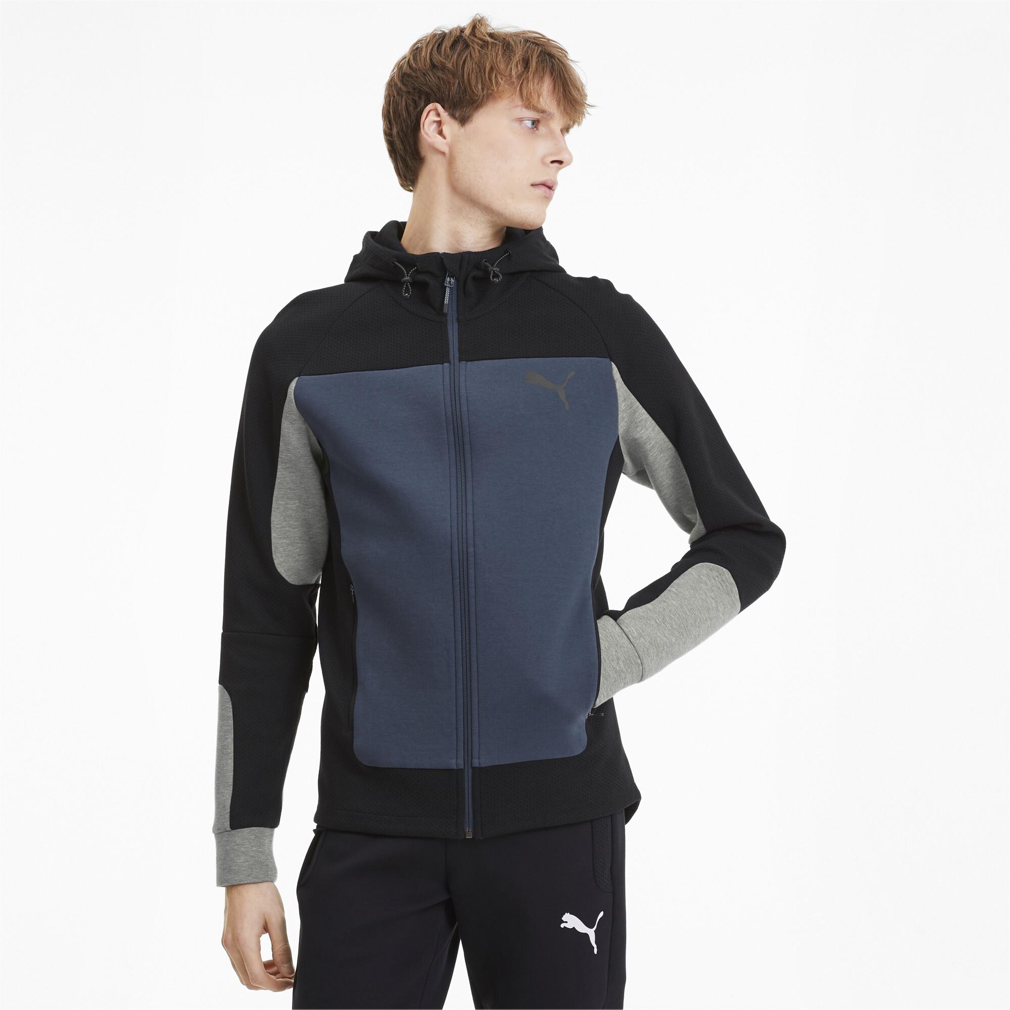 PUMA-Evostripe-Men-039-s-Hooded-Jacket-Men-Sweat-Basics thumbnail 4