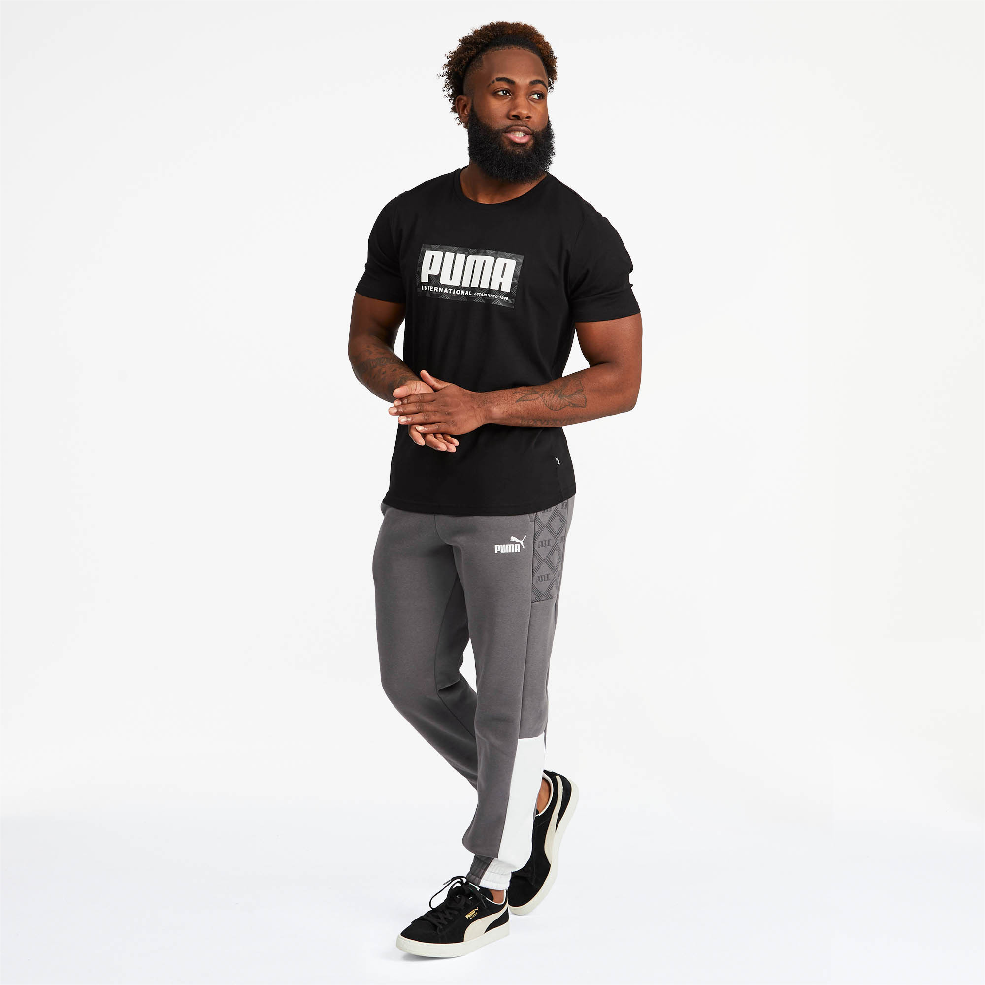 PUMA-Logo-AOP-Pack-Men-039-s-Graphic-Tee-Men-Tee-Basics thumbnail 6