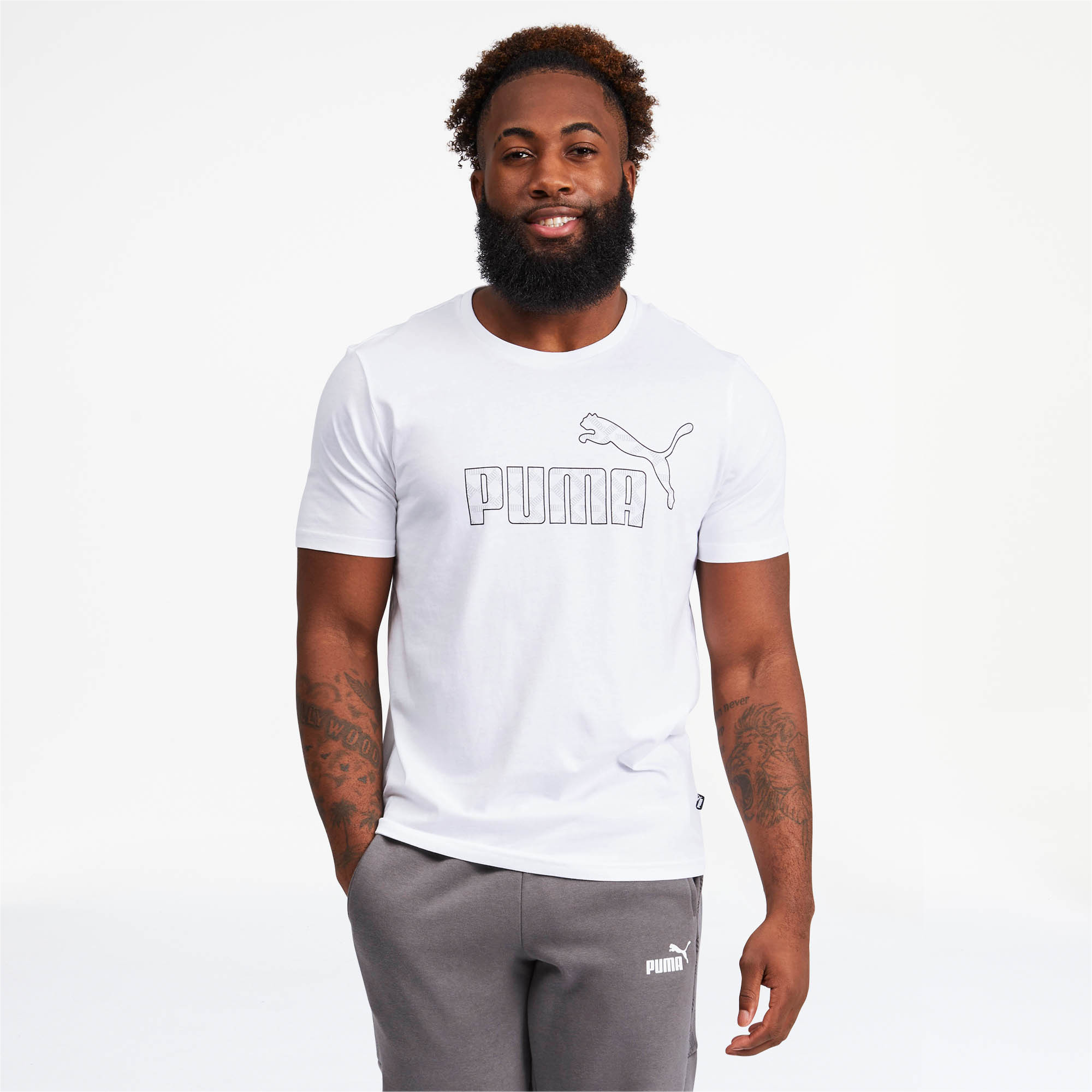 PUMA-Logo-AOP-Pack-Men-039-s-Graphic-Tee-Men-Tee-Basics thumbnail 9