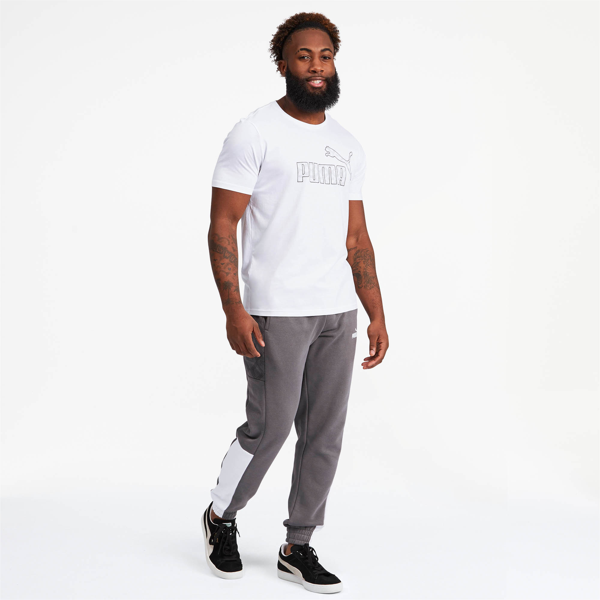 PUMA-Logo-AOP-Pack-Men-039-s-Graphic-Tee-Men-Tee-Basics thumbnail 11