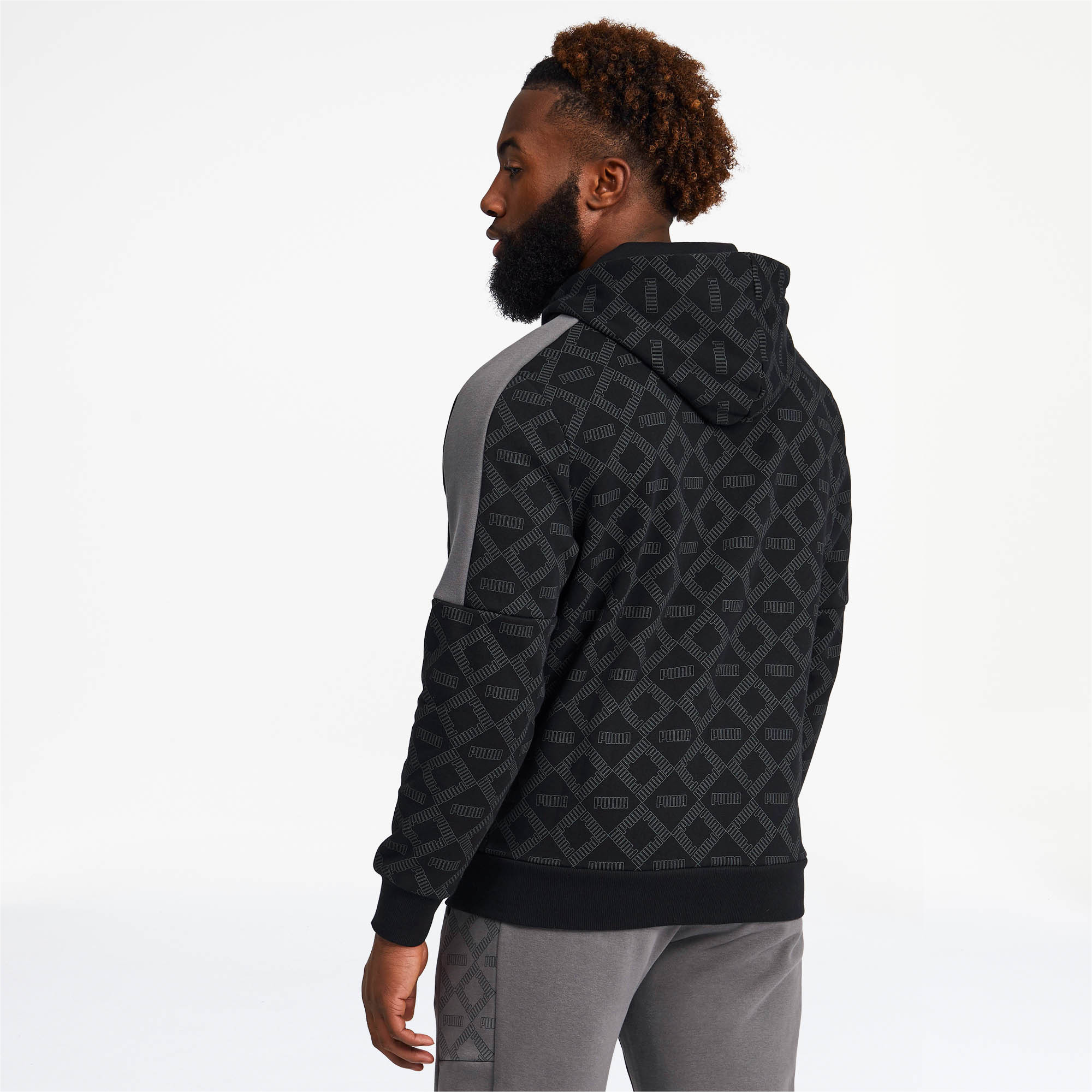 PUMA-Logo-AOP-Pack-Men-039-s-Hoodie-Men-Sweat-Basics thumbnail 5