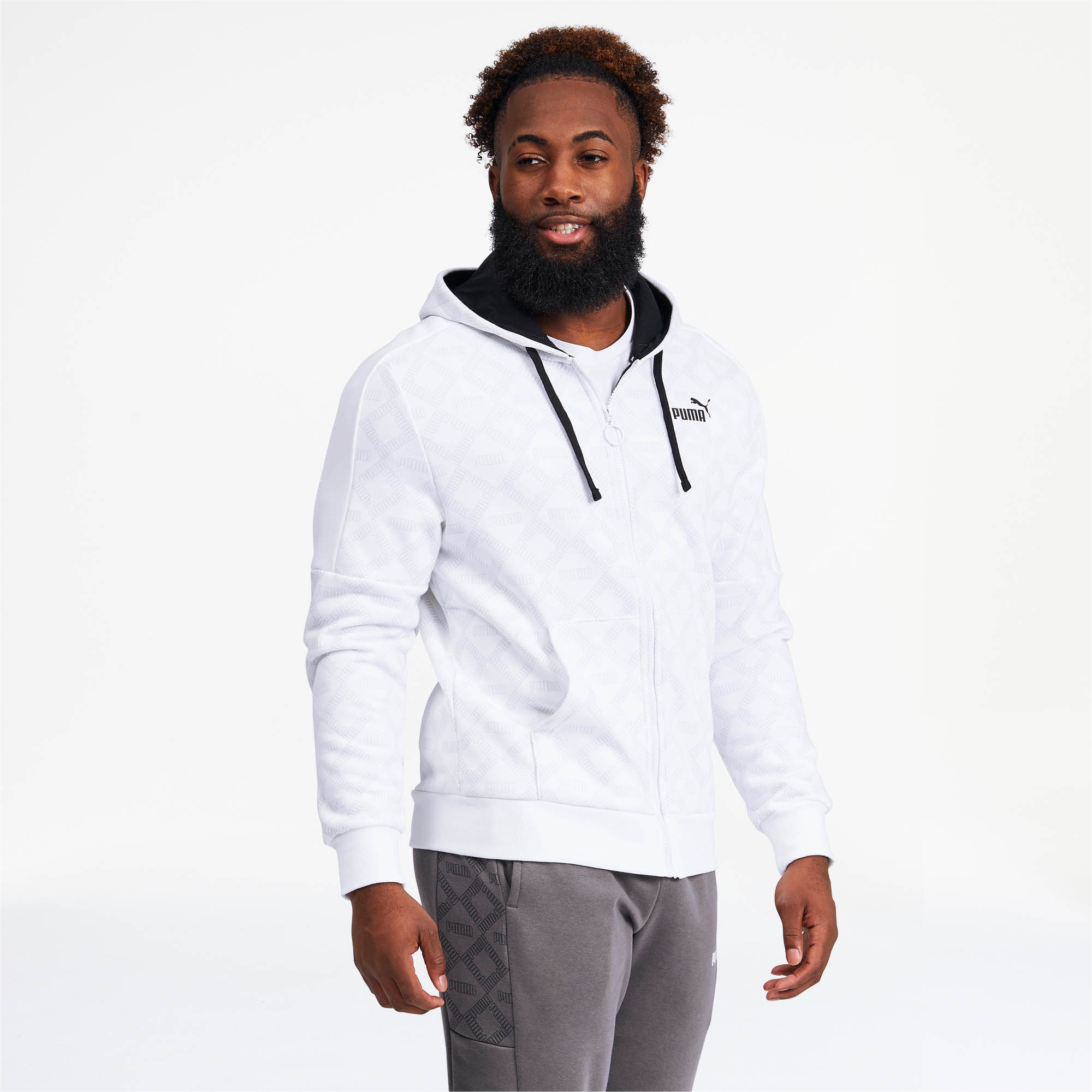 PUMA-Logo-AOP-Pack-Men-039-s-Hoodie-Men-Sweat-Basics thumbnail 14