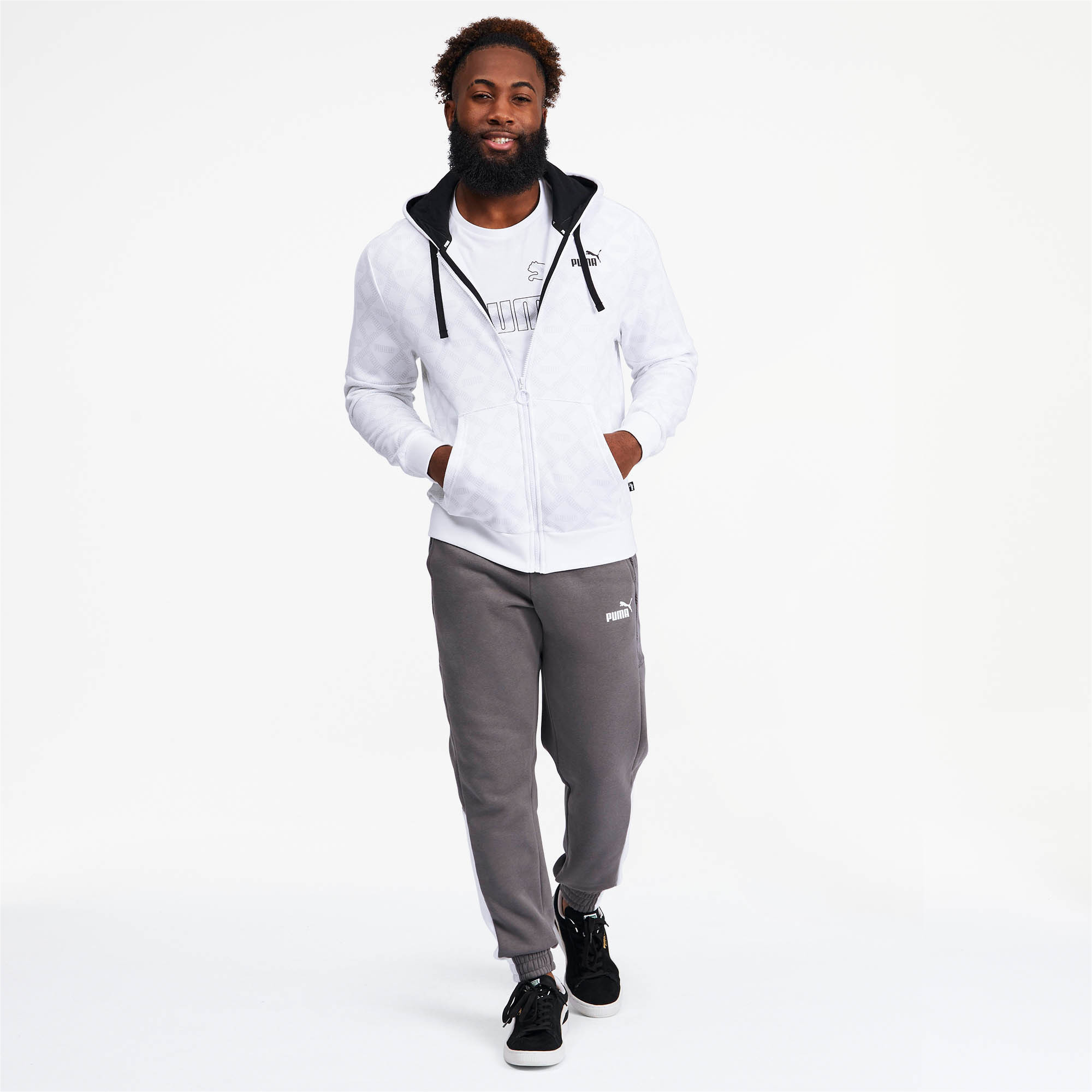 PUMA-Logo-AOP-Pack-Men-039-s-Hoodie-Men-Sweat-Basics thumbnail 16