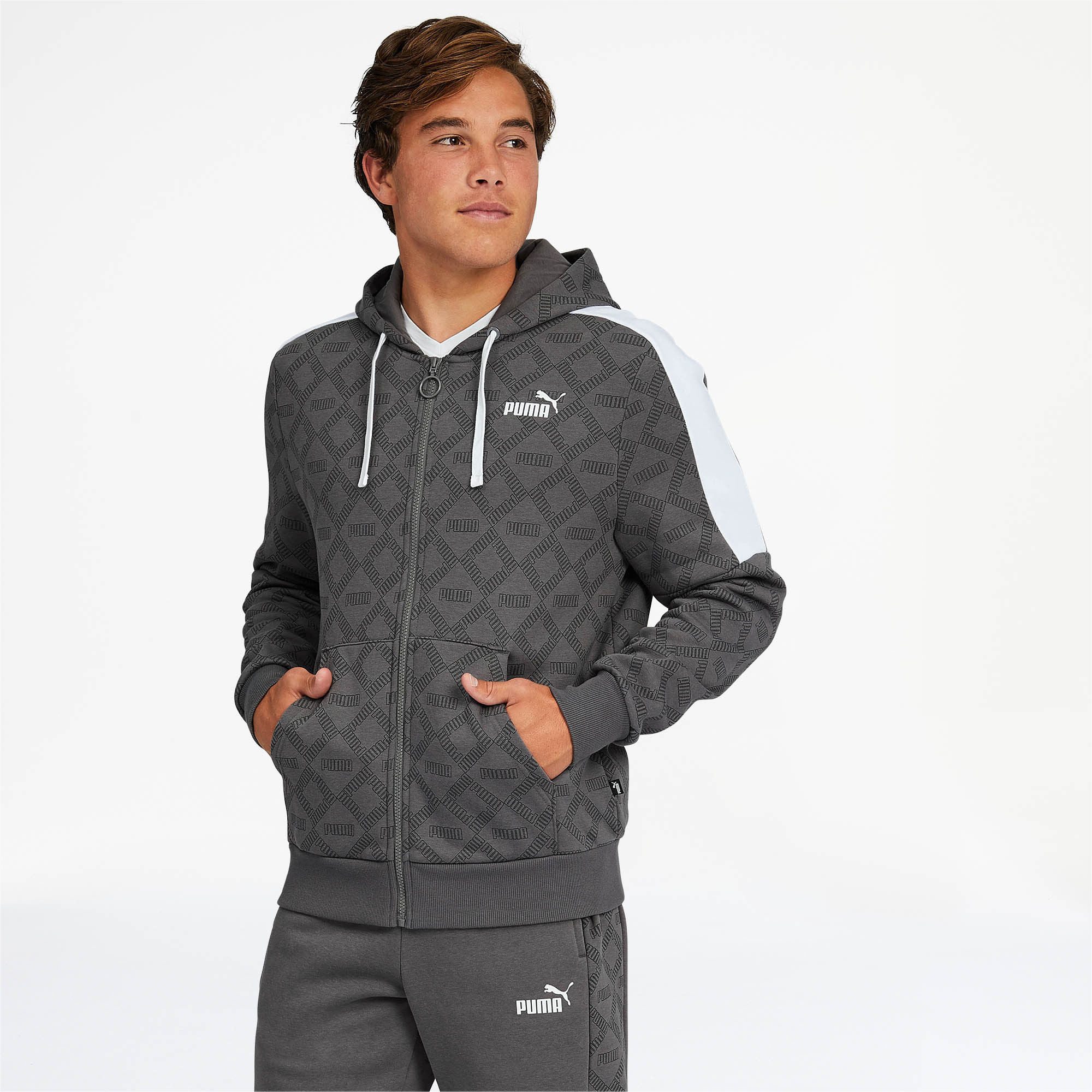 PUMA-Logo-AOP-Pack-Men-039-s-Hoodie-Men-Sweat-Basics thumbnail 23