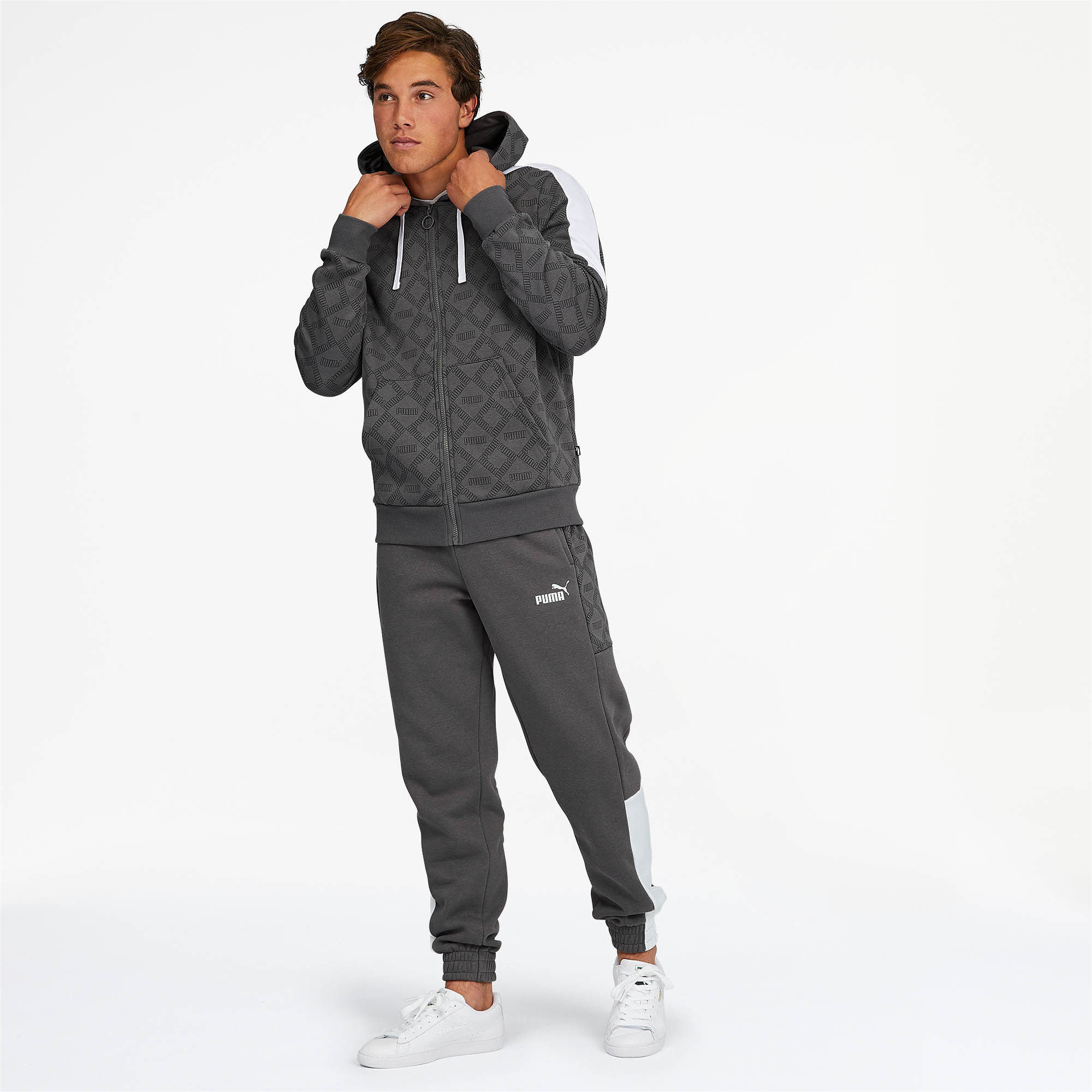 PUMA-Logo-AOP-Pack-Men-039-s-Hoodie-Men-Sweat-Basics thumbnail 25